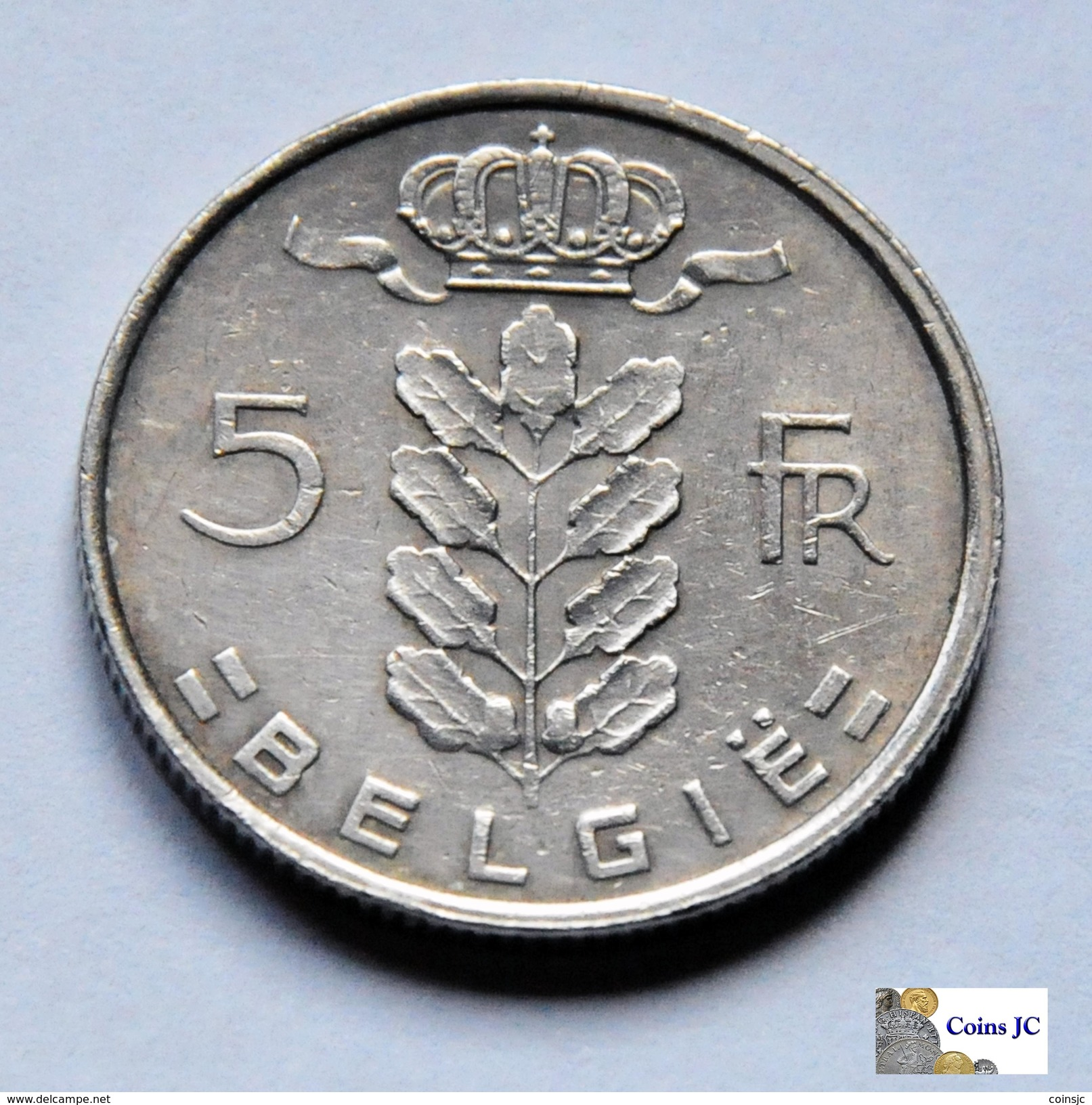 Bélgica - 5 Francs - 1975 - 1951-1993: Baudouin I