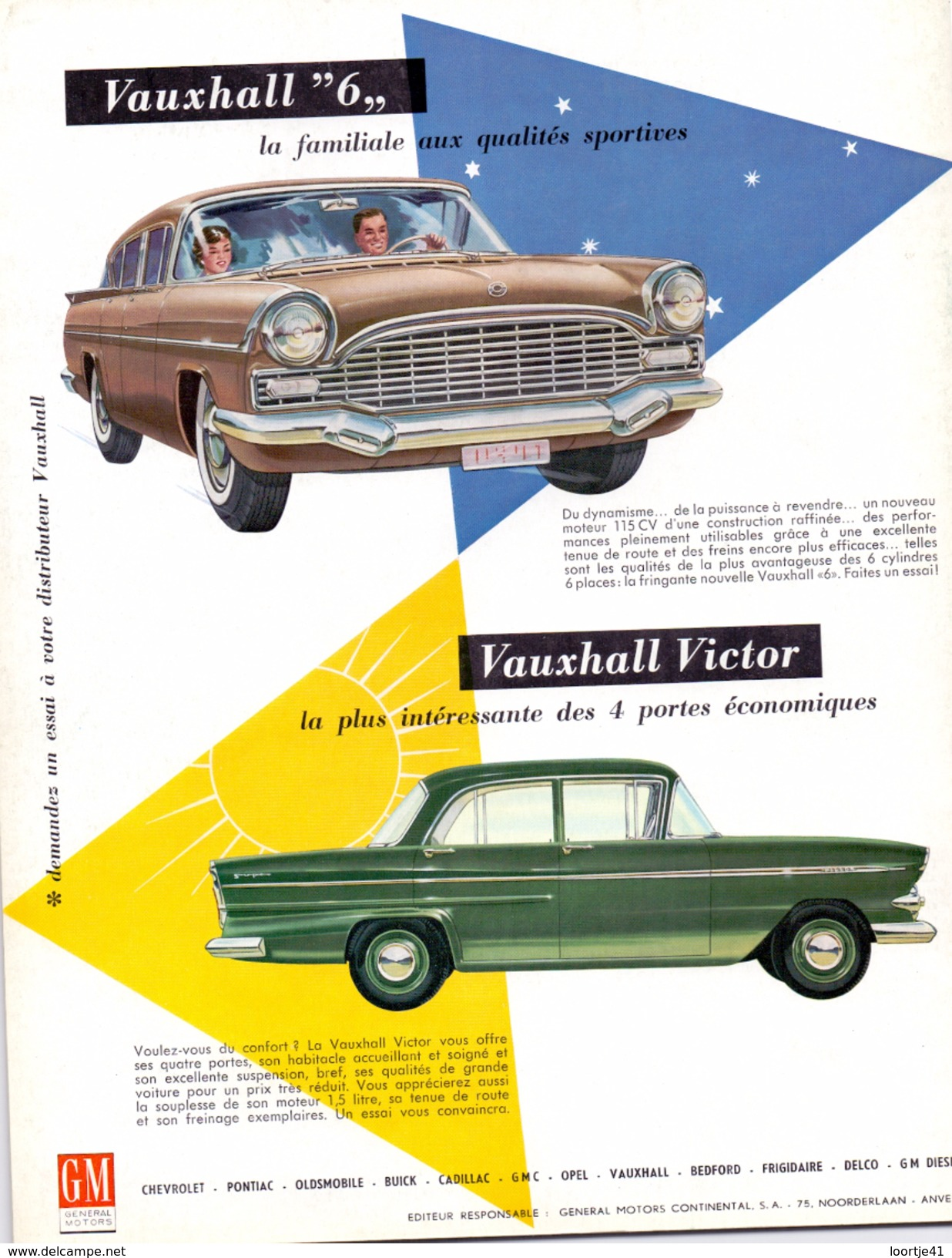 Magazine - Tijdschrift Motorama - General Motors Continental - Pub Reclame GM - Vauxhall - Vauxhall Victor  1 / 1961 - Auto