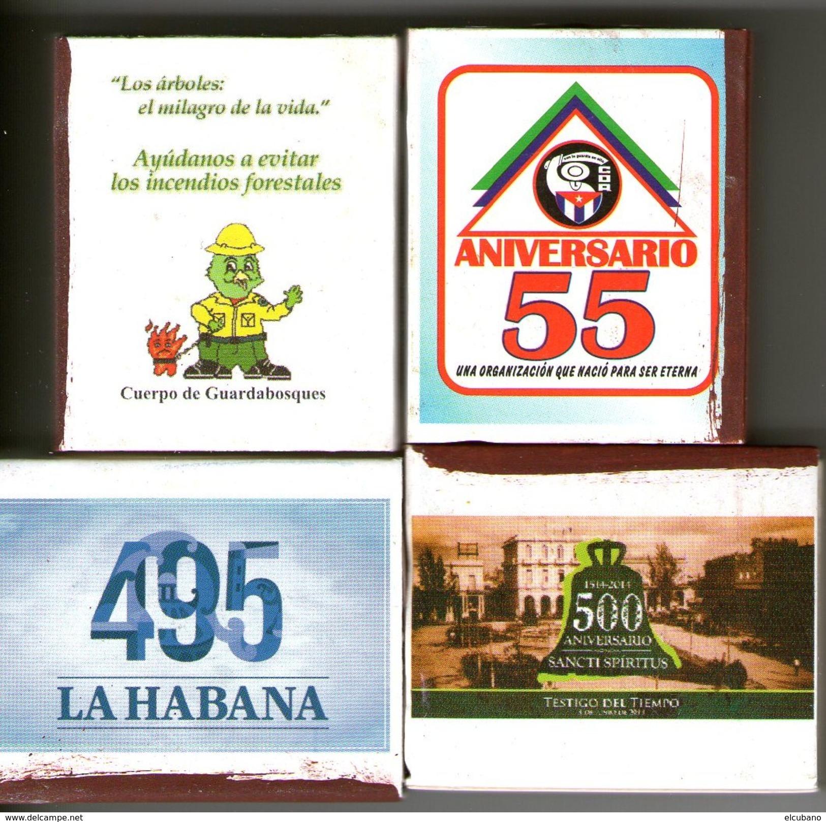 Fiammiferi Cerini Fosforos Originali In Scatolette Cuba - Boites D'allumettes