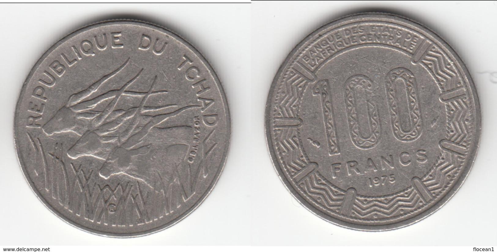 **** TCHAD - CHAD - REPUBLIQUE DU TCHAD - 100 FRANCS 1975 **** EN ACHAT IMMEDIAT !!! - Tsjaad