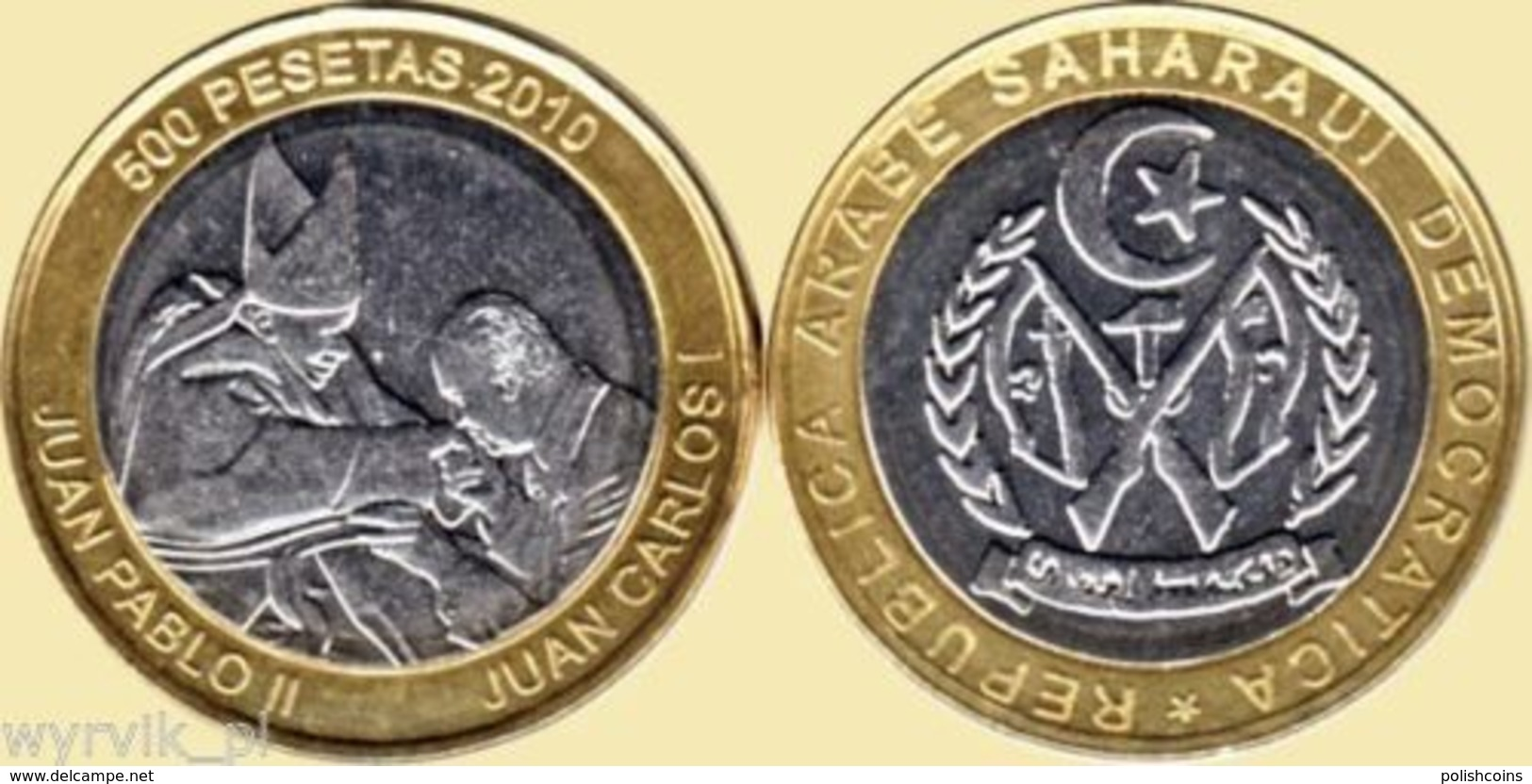 WEST SAHARA 2010 500 Pesetas John Paul II JP2 UNC Arabe Saharui Sahara Zachodnia - Western Sahara