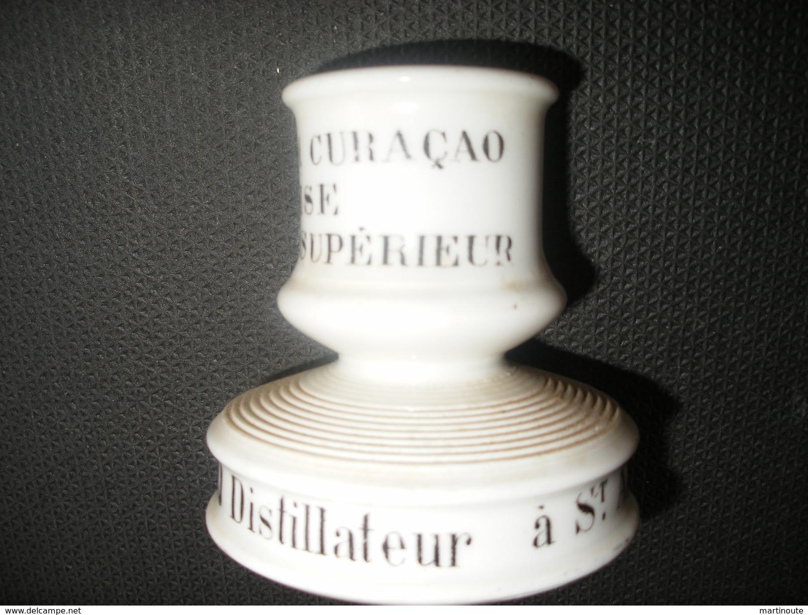 ANCIEN PYROGENE En Faïence Léon BUREAU Distillateur à SAINT-AMAND Cher, Prunelle, Fraise Etc.. - Pyrogènes