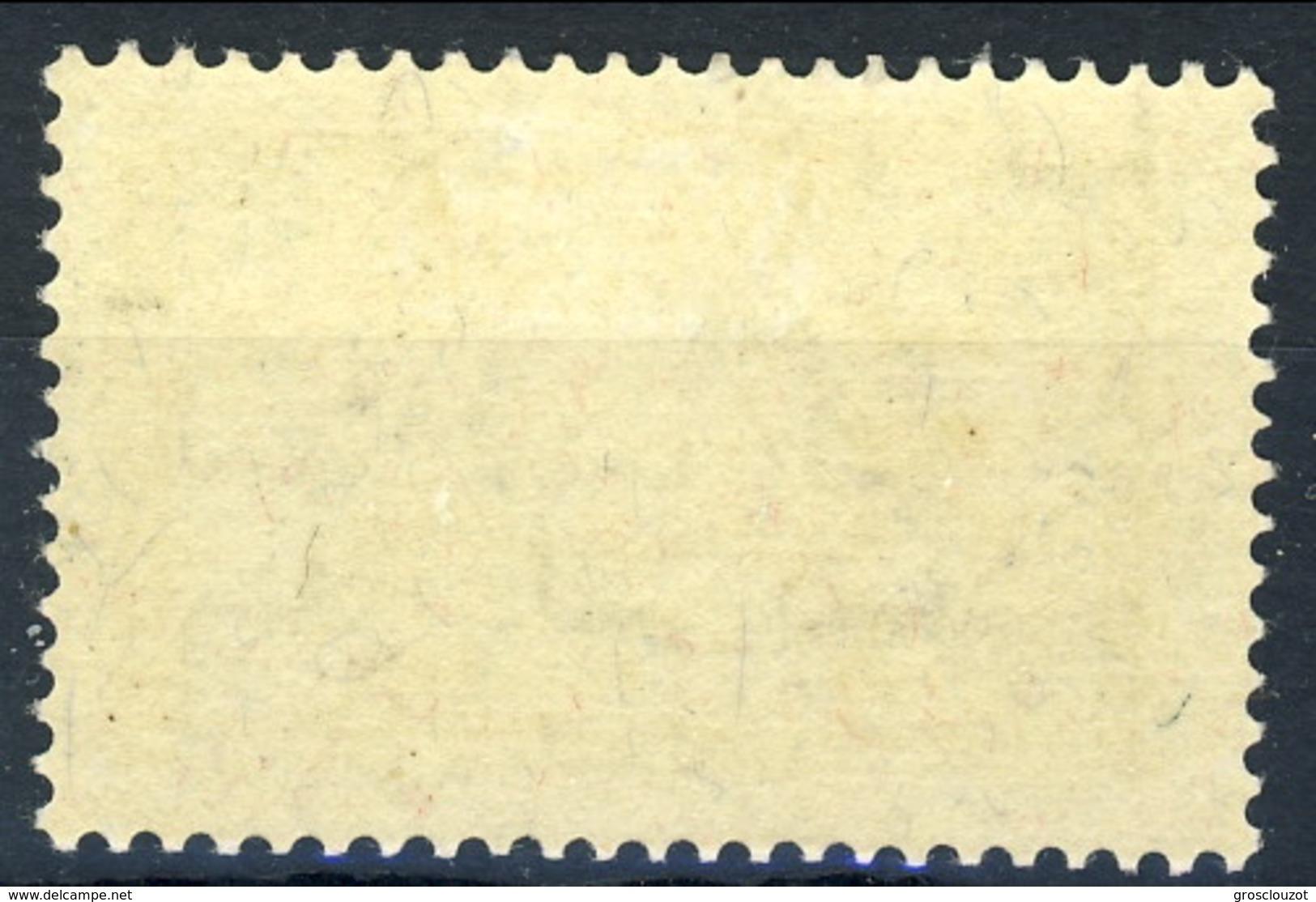 Svizzera 1930 - 31 N. 245 F. 10 Ragazza (Jungfrau) Verde Grigio. MVLH (traccia Di Linguella Invisibile) Cat. € 340 - Svizzera