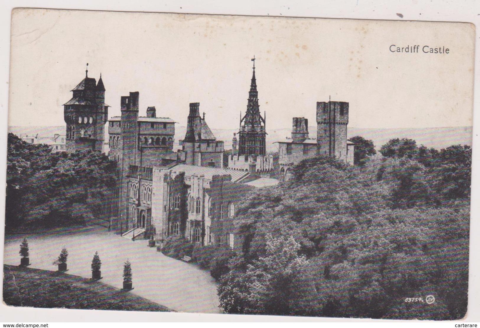 CPA,ROYAUME UNI,UNITED KINGDOM,PAYS DE GALLES,SOUTH GLAMORGAN,CARDIFF,CASTLE,CHATEAU,1909 - Autres