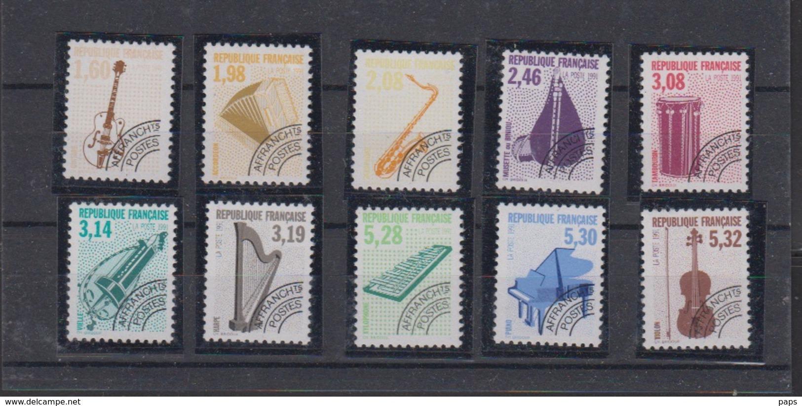 1992-PREO N°213a/223a** INSTRUMENTS DE MUSIQUE.DENTELES 12.LA SERIE SIGNEE CALVES - Vorausentwertungen