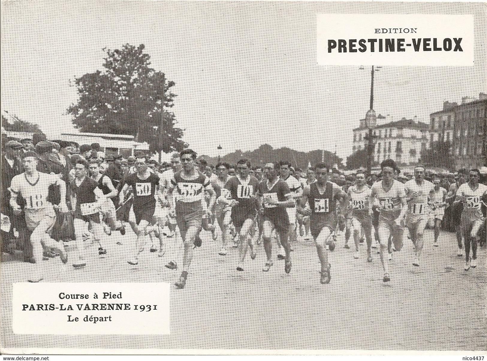 Photo Course A Pied Paris La Varenne 1931 Depart - Athlétisme