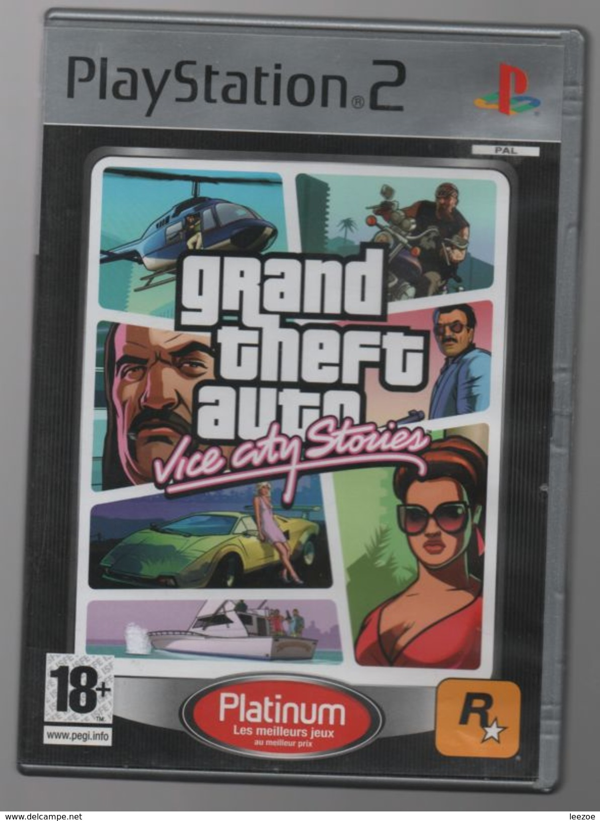 GRAND THEFT AUTO VICE CITY STORIES SUR PS2..NICKEL AVEC NOTICE - Sony PlayStation