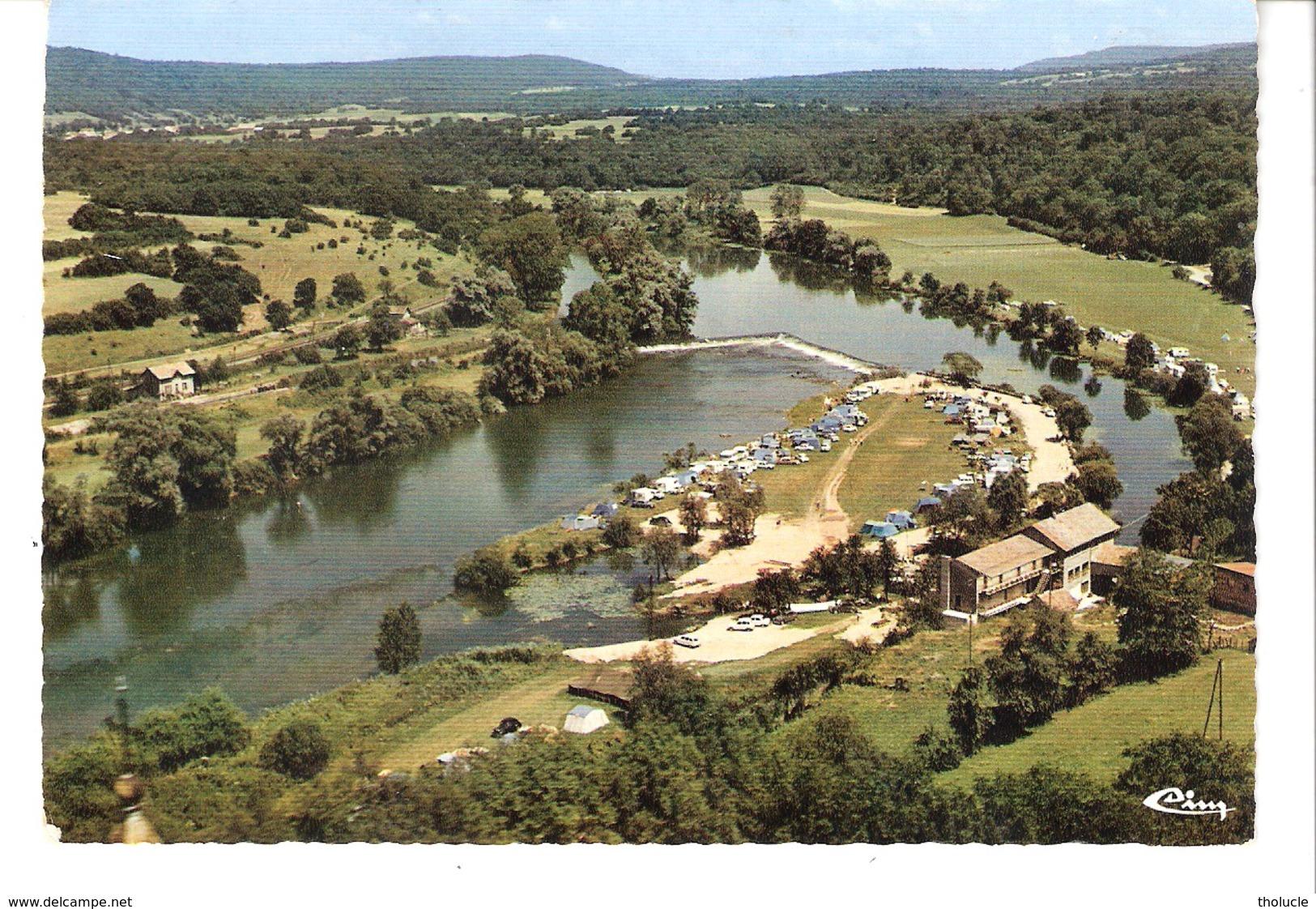 """Roche-lès-Clerval (Bavans-Montbéliard-Doubs)-1974-Vue Aérienne-centre De Loisirs """"Clermoulin"""" Des Automobiles Peugeot - Montbéliard"""