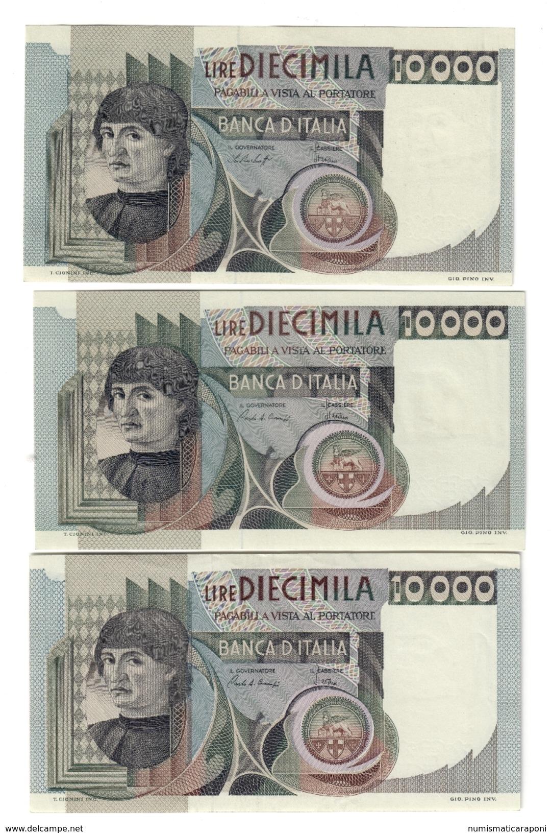 10000 LIRE DEL CASTAGNO 1978 + 1982  SUP/FDS + 1984 SPL+ LOTTO 315 - [ 2] 1946-… : Républic