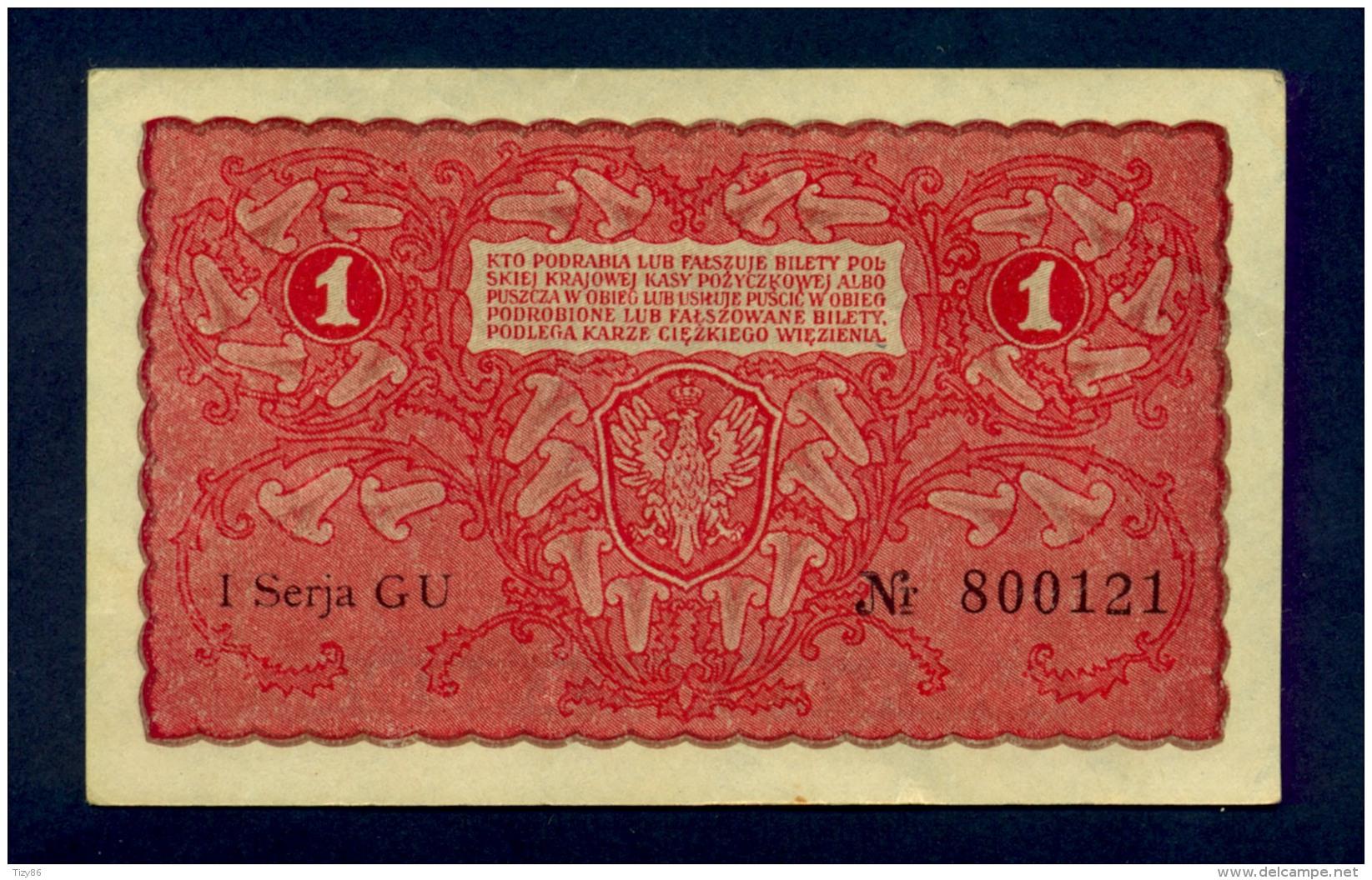 Banconota Polonia 1 MARKA 1919 FDS - Poland
