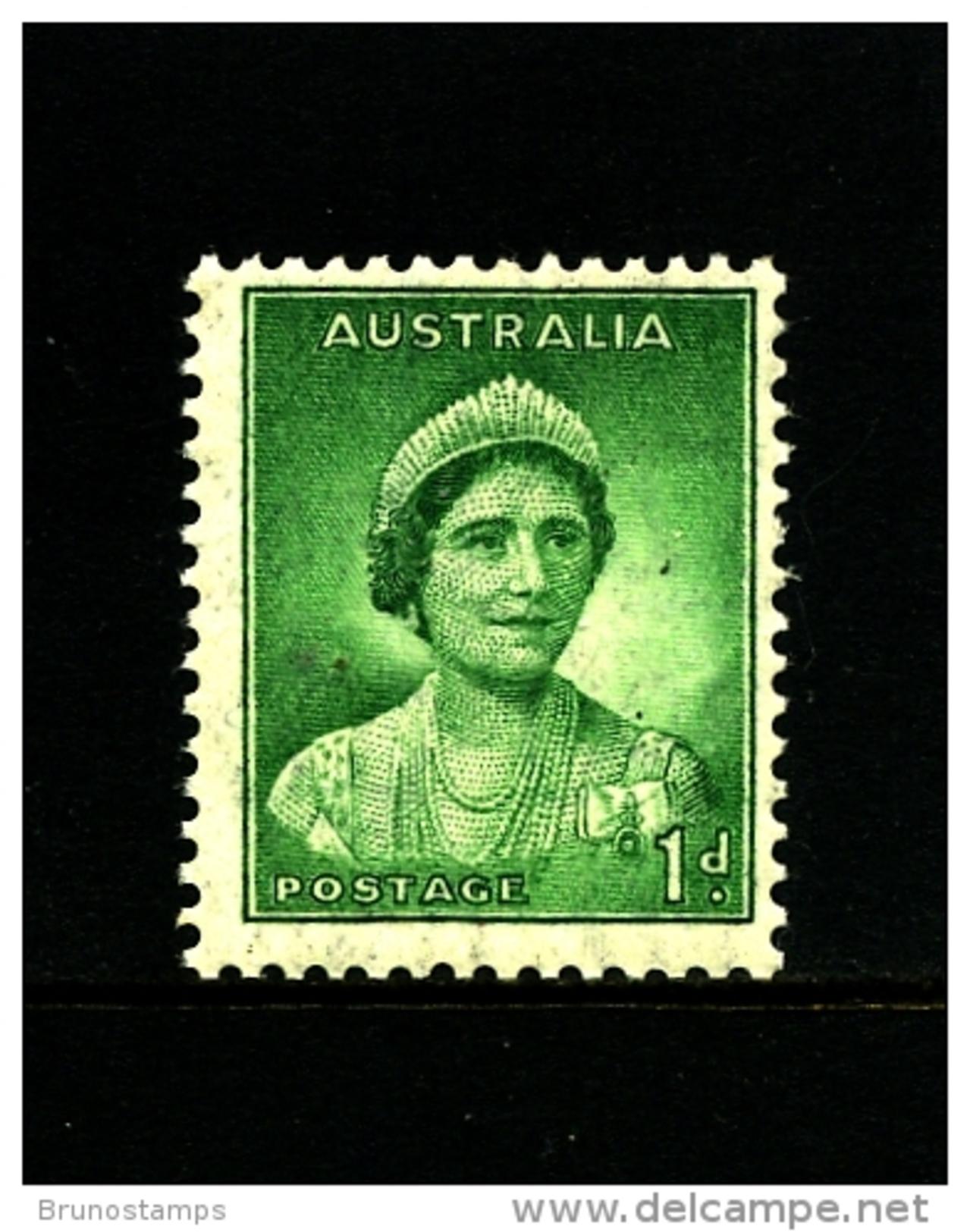 AUSTRALIA - 1938  DEFINITIVE  1d  GREEN  WMK  PERF. 14 X 15  MINT NH  SG 180 - 1937-52 George VI