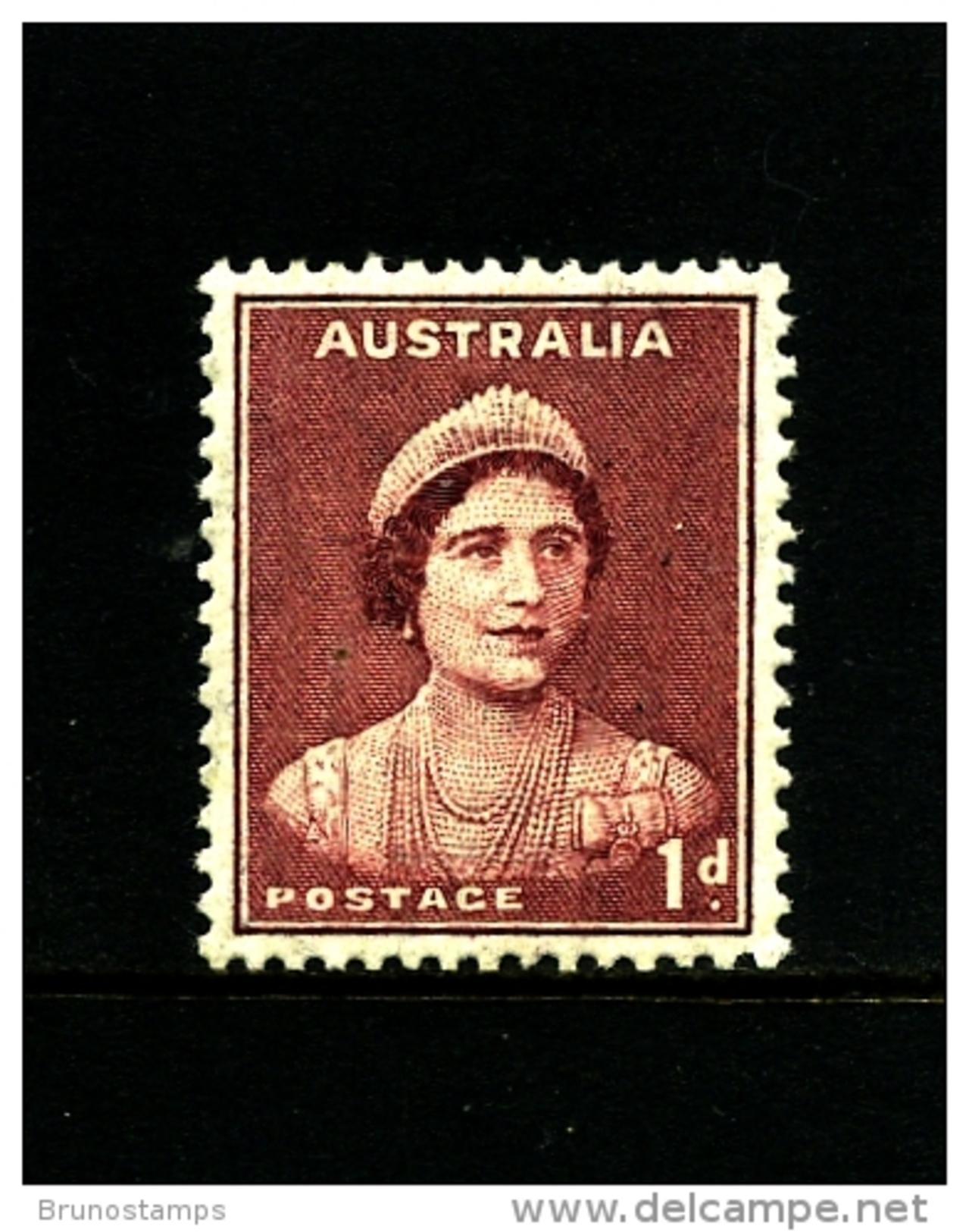 AUSTRALIA - 1941  DEFINITIVE  1d  MAROON  WMK  PERF. 14 X 15  MINT  SG 181 - 1937-52 George VI