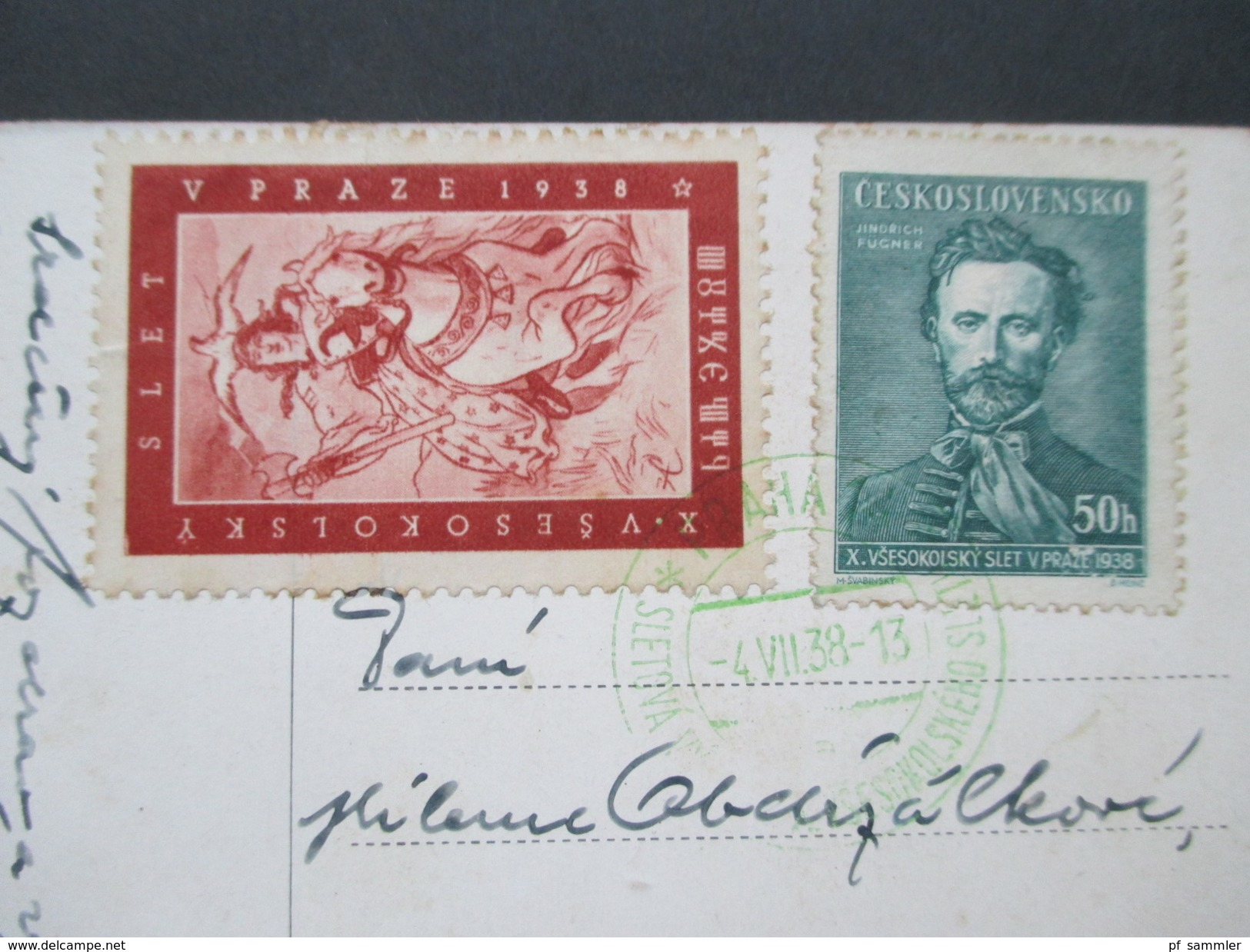 AK Tschechien 1938 Propaganda Karte. Krieger / Soldat Vlasti Sluz. - Europe