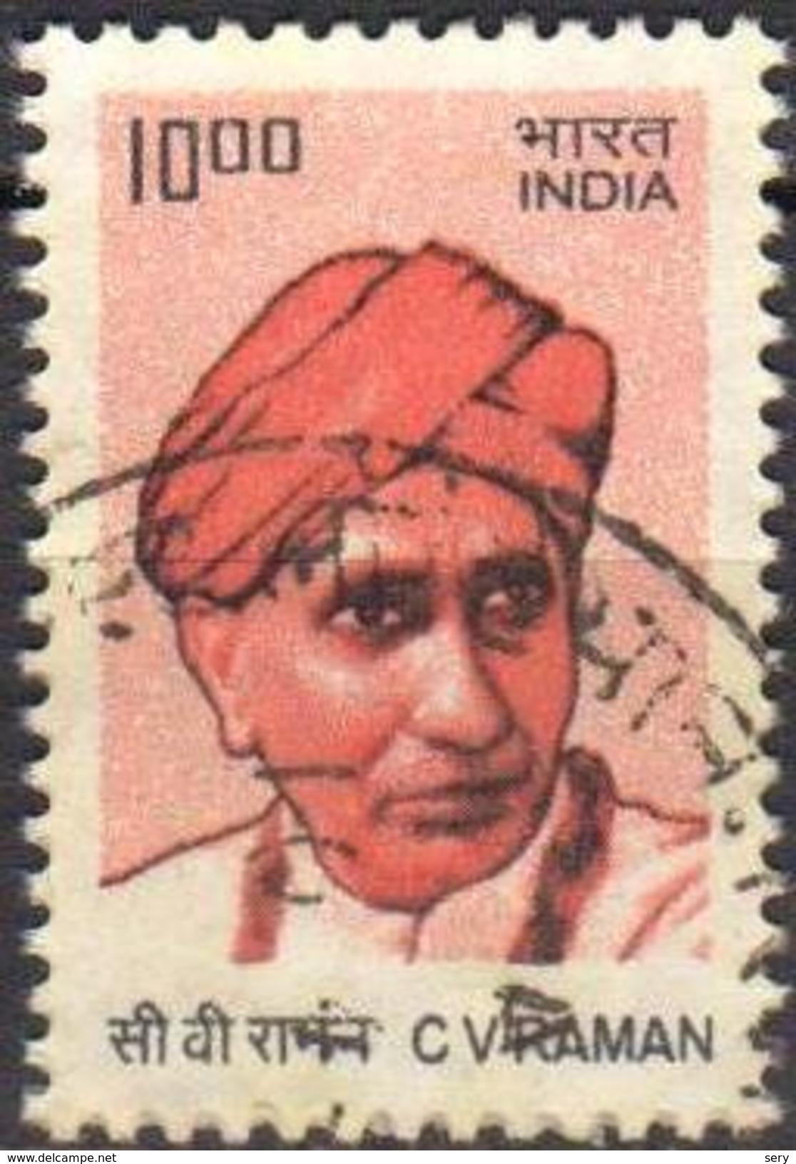 India 2010 1 V Used C. V. Raman Indian Physicist Nobel Prize Physics - Fisica