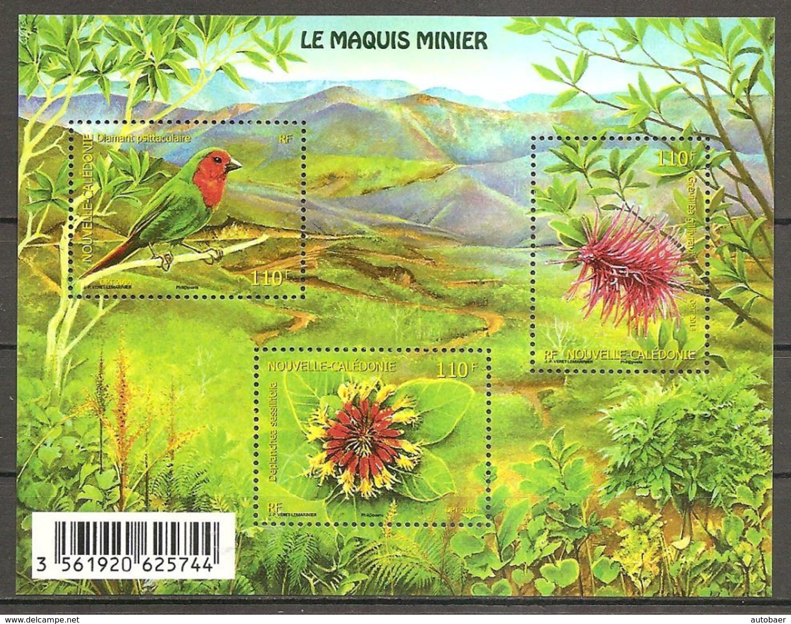Neukaledonien Nouvelle Caledonie 2014 Le Maquies Minier Unterholz Der Minengebiete Michel No. Bl. 51 (1654-56) MNH Neuf - Neukaledonien