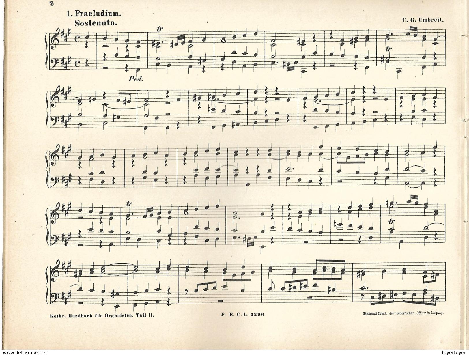 D 212   Partitions En Allemand Handbuch Für Organisten - Noten & Partituren