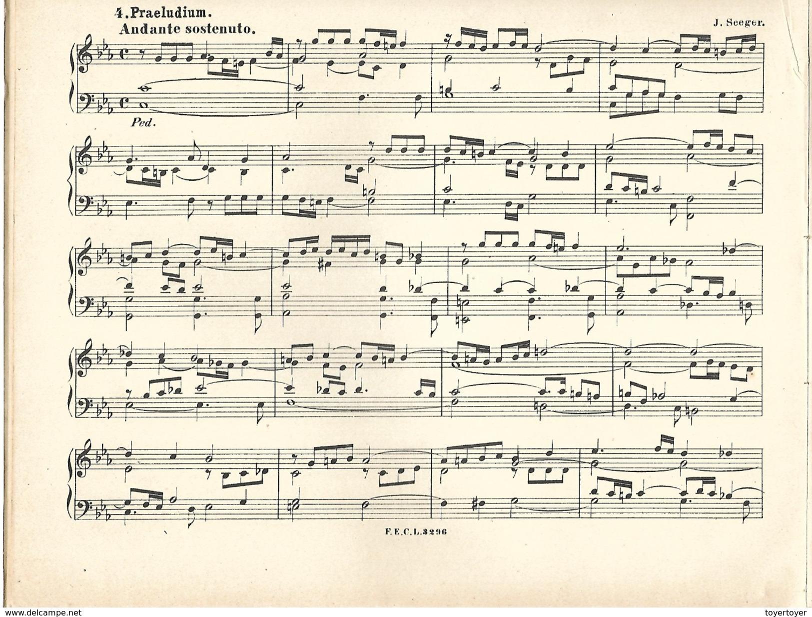 D 212   Partitions En Allemand Handbuch Für Organisten - Partituren