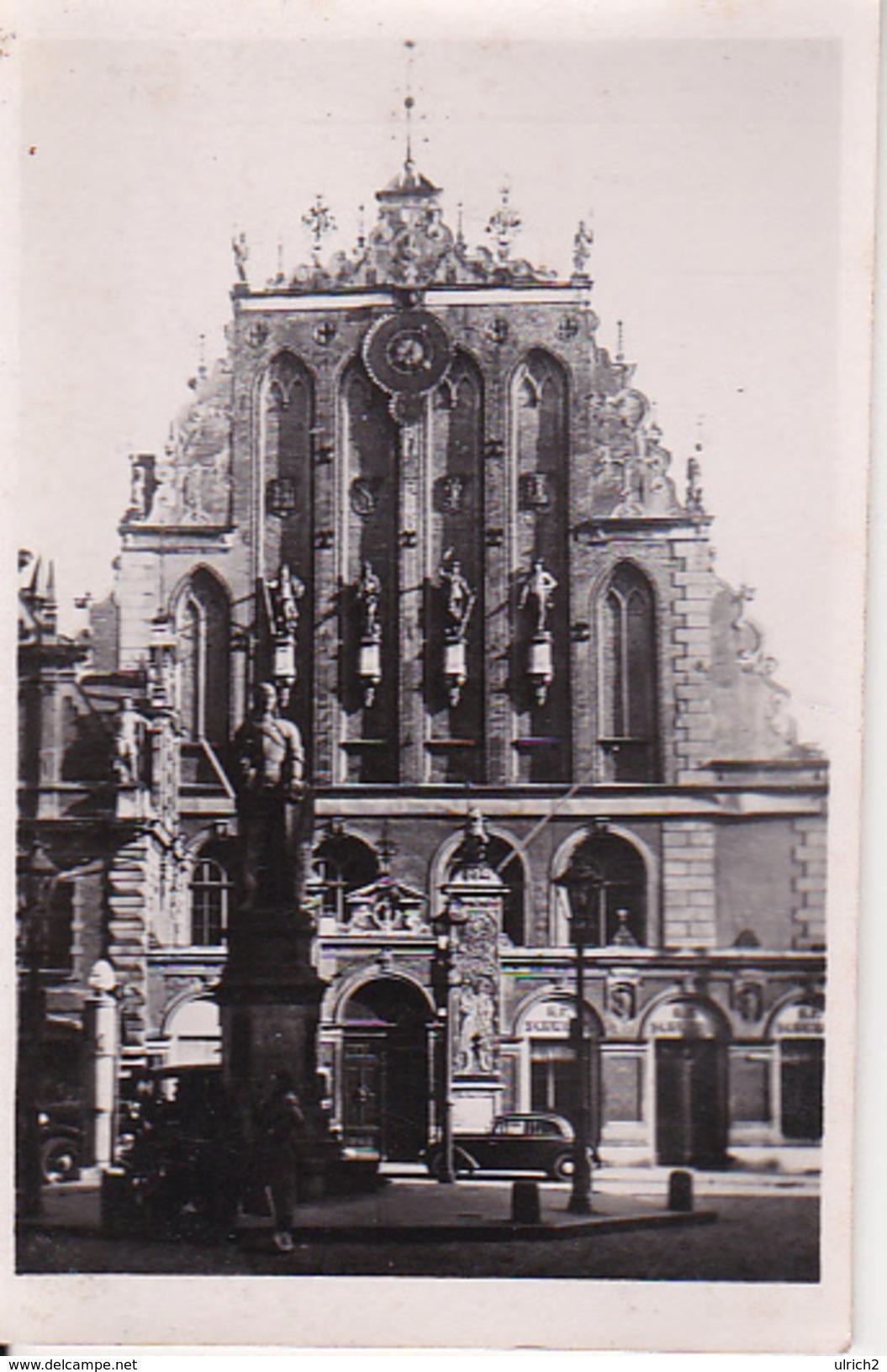 Foto Riga - Roland - Schwarzhäupterhaus - Ca. 1940 - 8*6cm (27588) - Orte