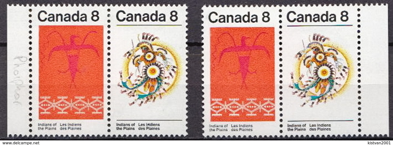 Canada MLH Sets, Both Types - American Indians