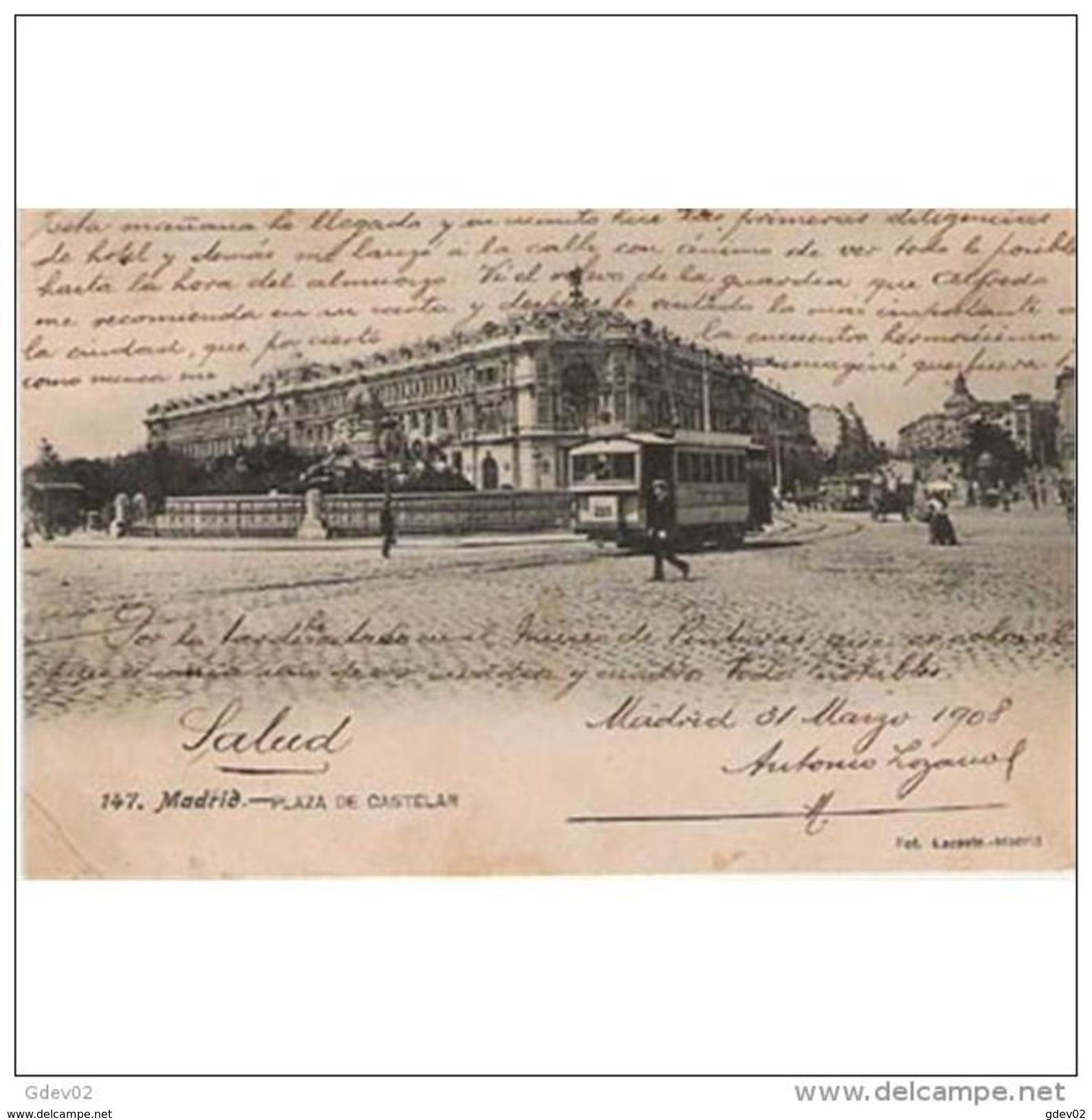 MDD1TP8397-LFT431TBAN.Espagne .Spain.Tarjeta Postal De MADRID.Tranvia ,FUENTE DE LA CIBELES Y BANCO DE ESPAÑA  En MADRID - Bancos