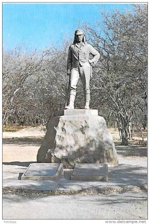 AFRIQUE NOIRE - RHODESIE Rhodesia : Livinstone's Statue - Victoria Falls - CPSM GF - Black Africa - Cartoline