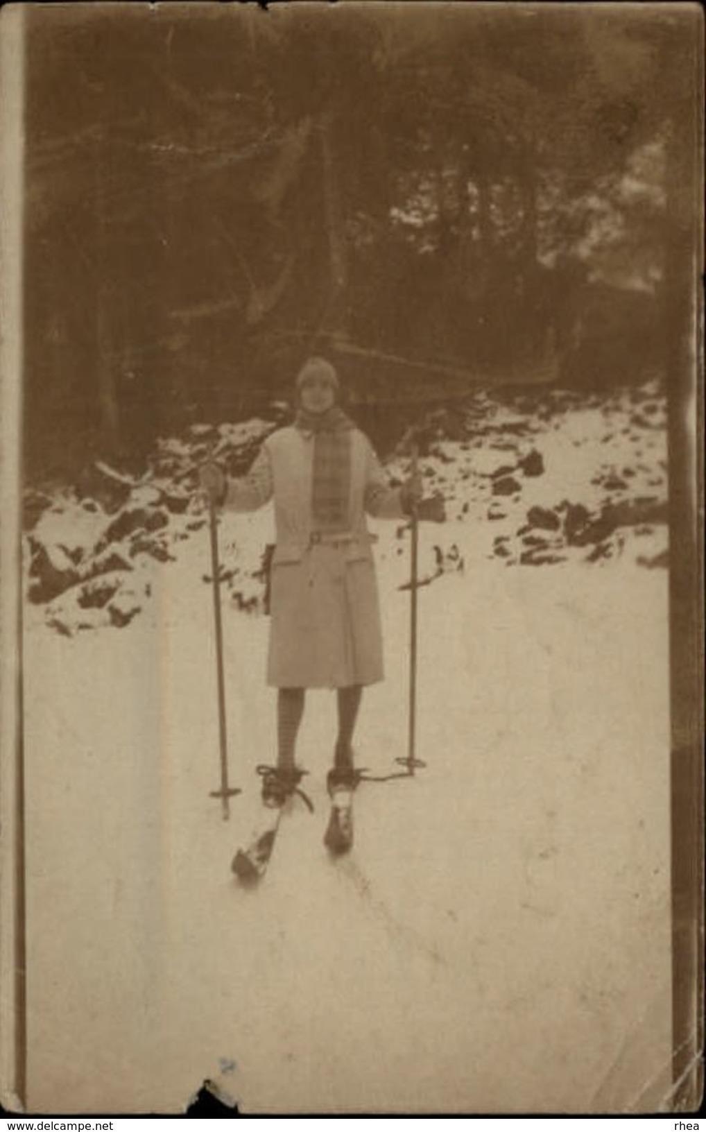65 - CAUTERETS - PHOTO Skieuse - Ski - 1927 - Lieux
