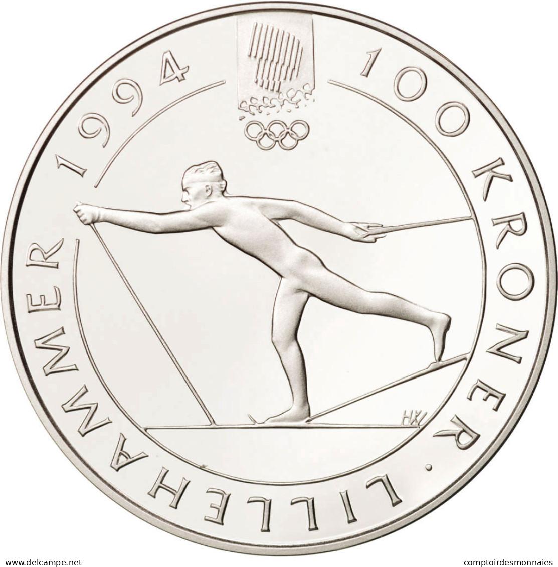 Norvège, Olav V, 100 Kroner, 1991, FDC, Argent, KM:433 - Norvège