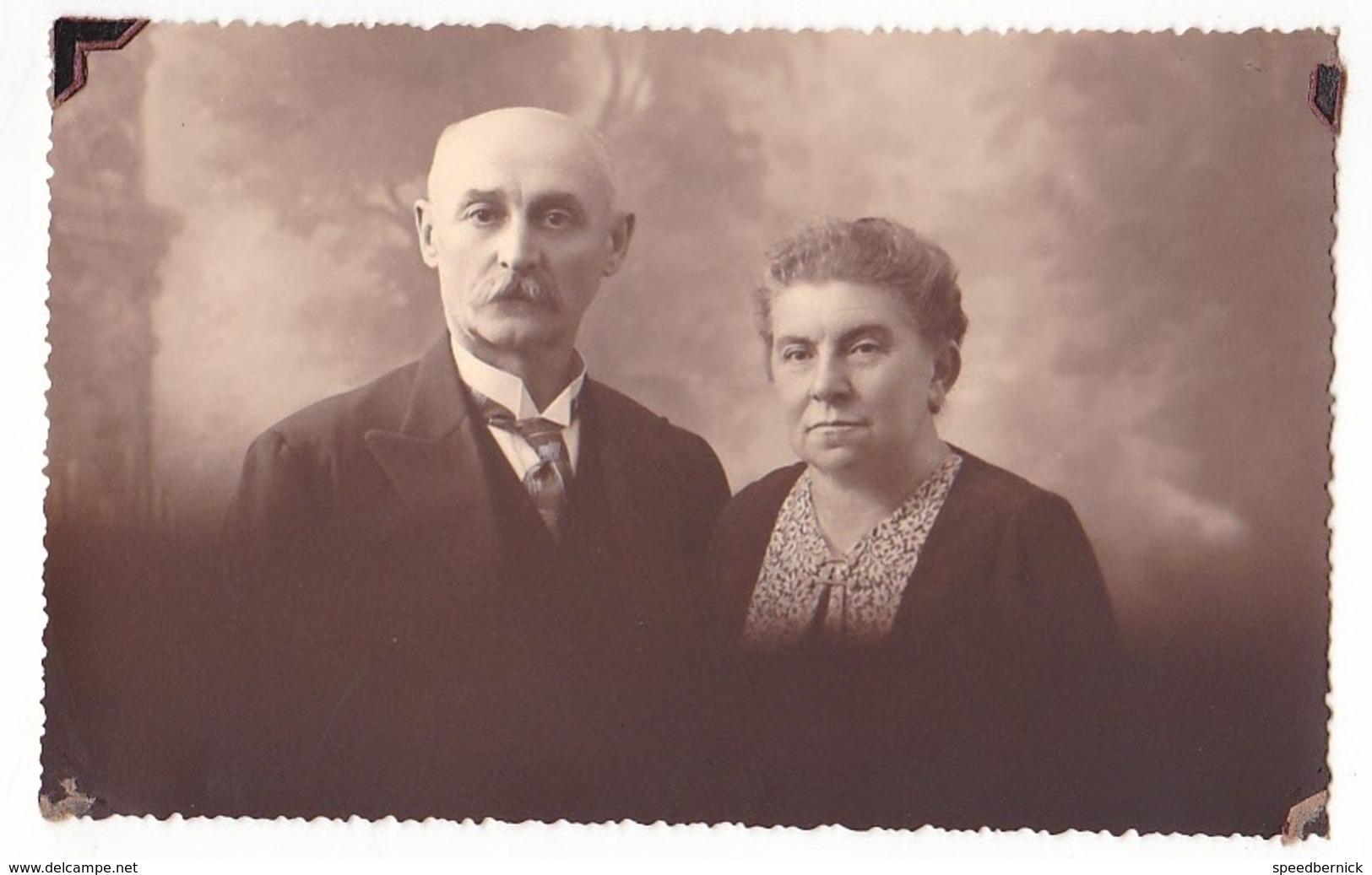 26068 Carte Photo -couple Age Vieillard   -  Belgique - - Couples
