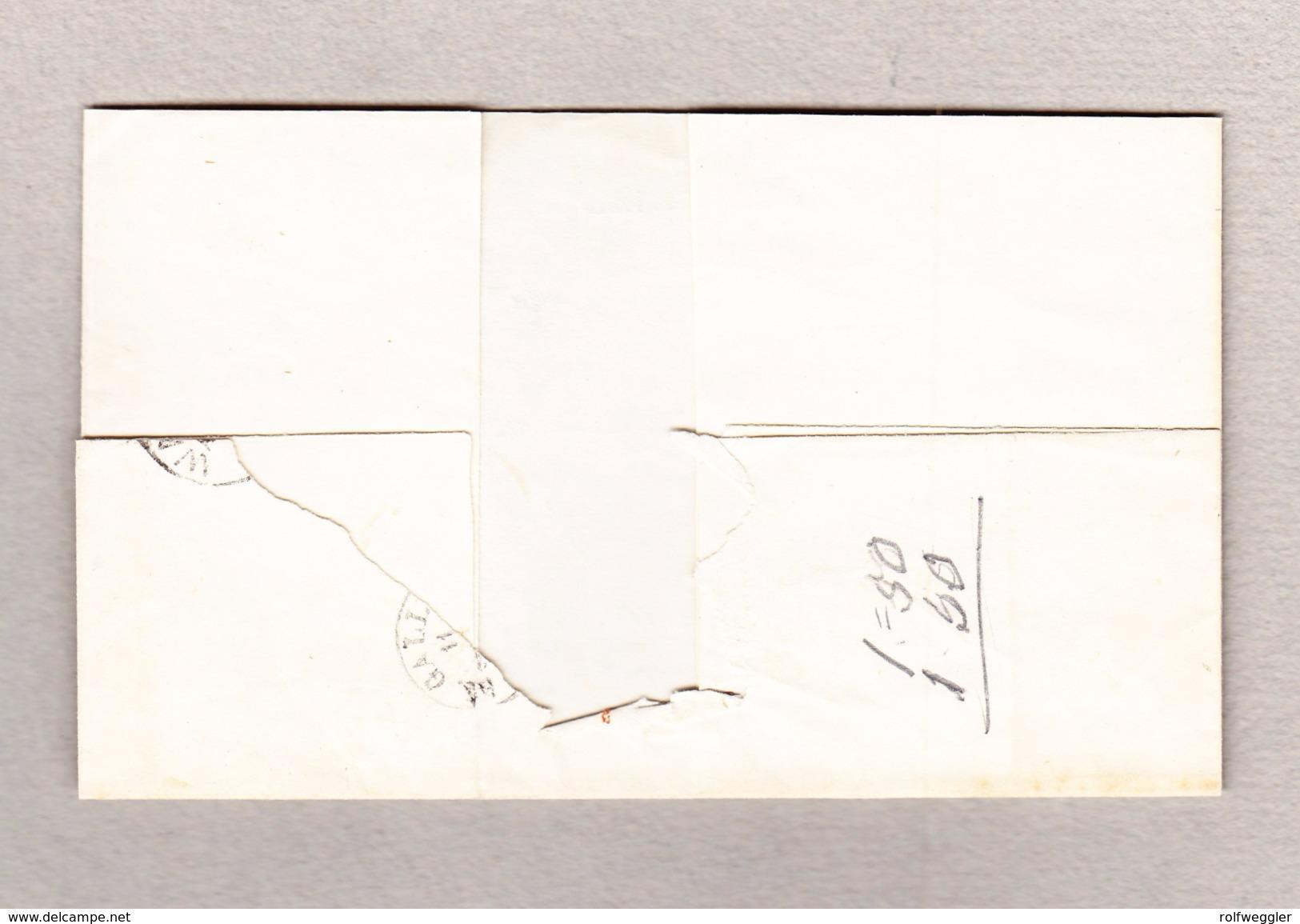 Schweiz 10Rp Zu#23cPf1 Und 15Rp Zu#24D Strubel Bazenheid Balkenstempel Wattwyl 11.8.1957 Brief Nach St Gallen - 1854-1862 Helvetia (Non Dentellati)