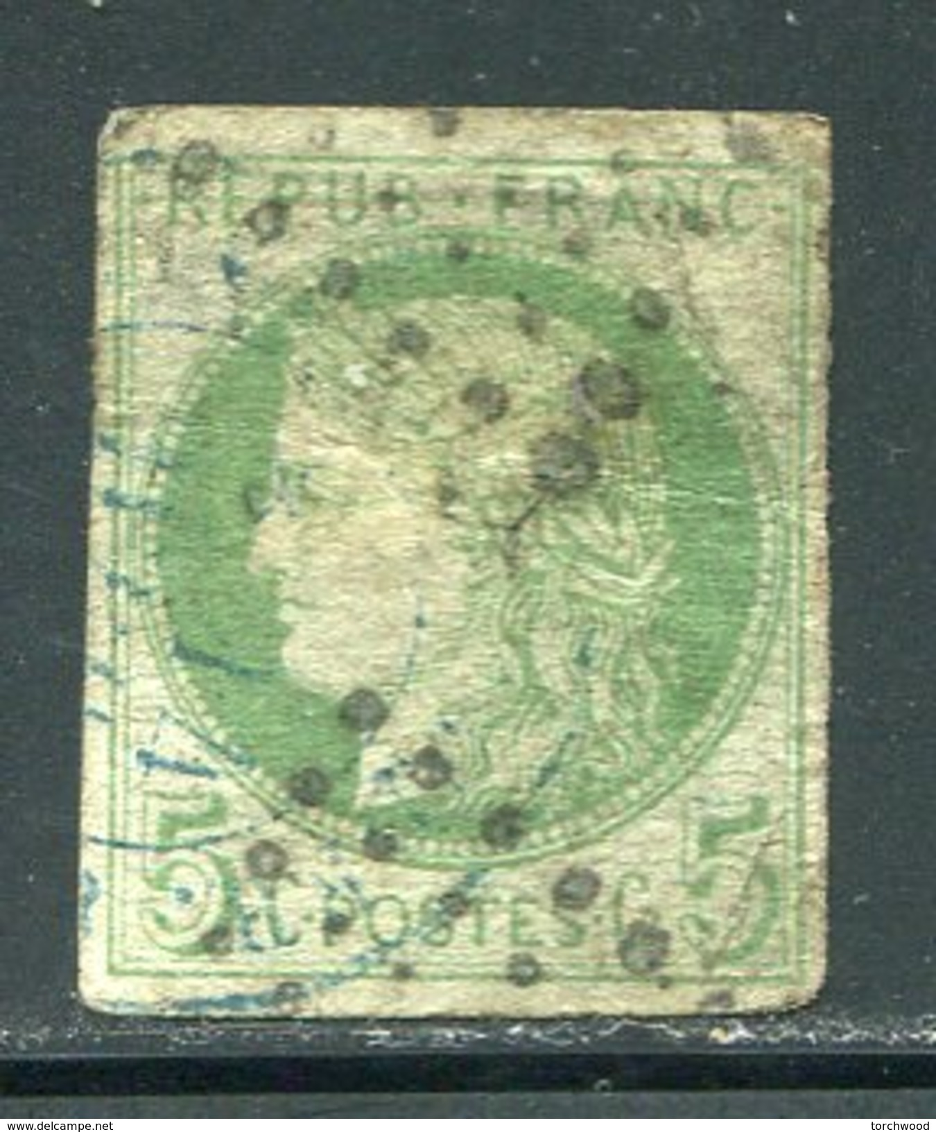 France  Sc# 41  (o)  Used 1870  Thin - 1871-1875 Ceres