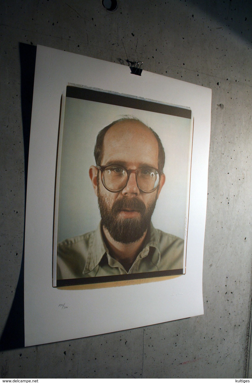 """CHUCK CLOSE """"Selfportrait"""" 1979, Edition 3/300 - Lithographies"""