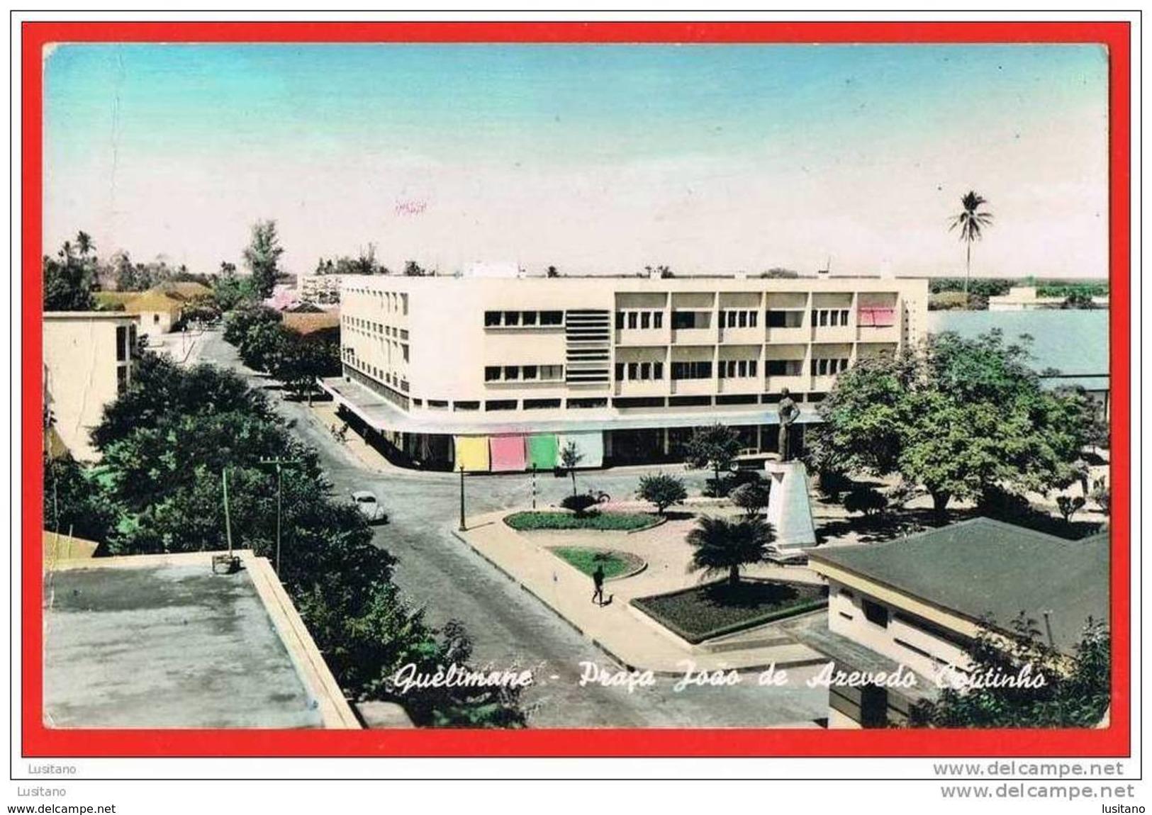 Quelimane - RPPC - Praça J. Azevedo Coutinho - Tinted Postcard 1950s ( 2 Scans ) Moçambique Mozambique Afrique - Mozambique
