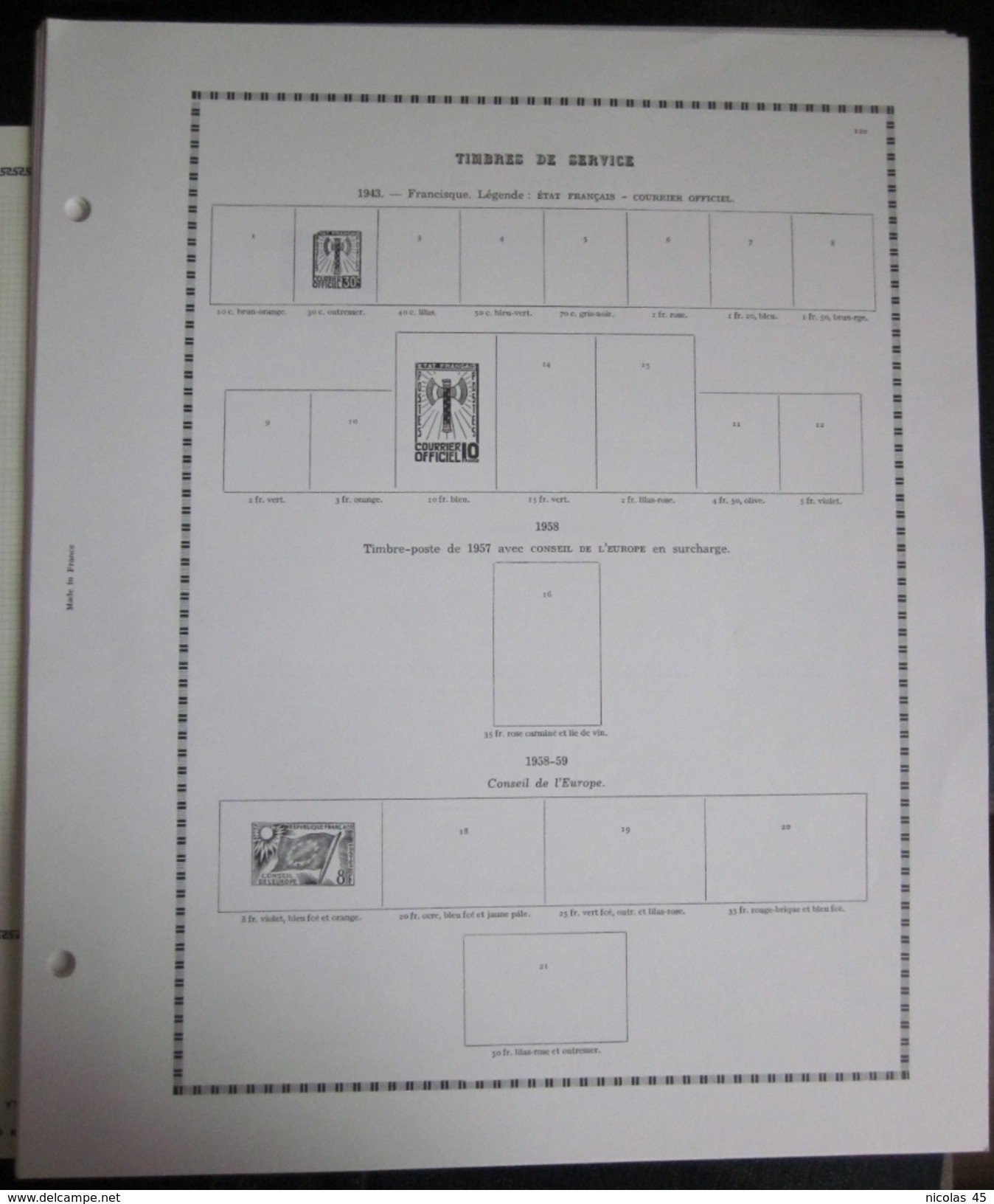 Feuilles France Yvert Et Tellier - Fin De Catalogue - Sellos