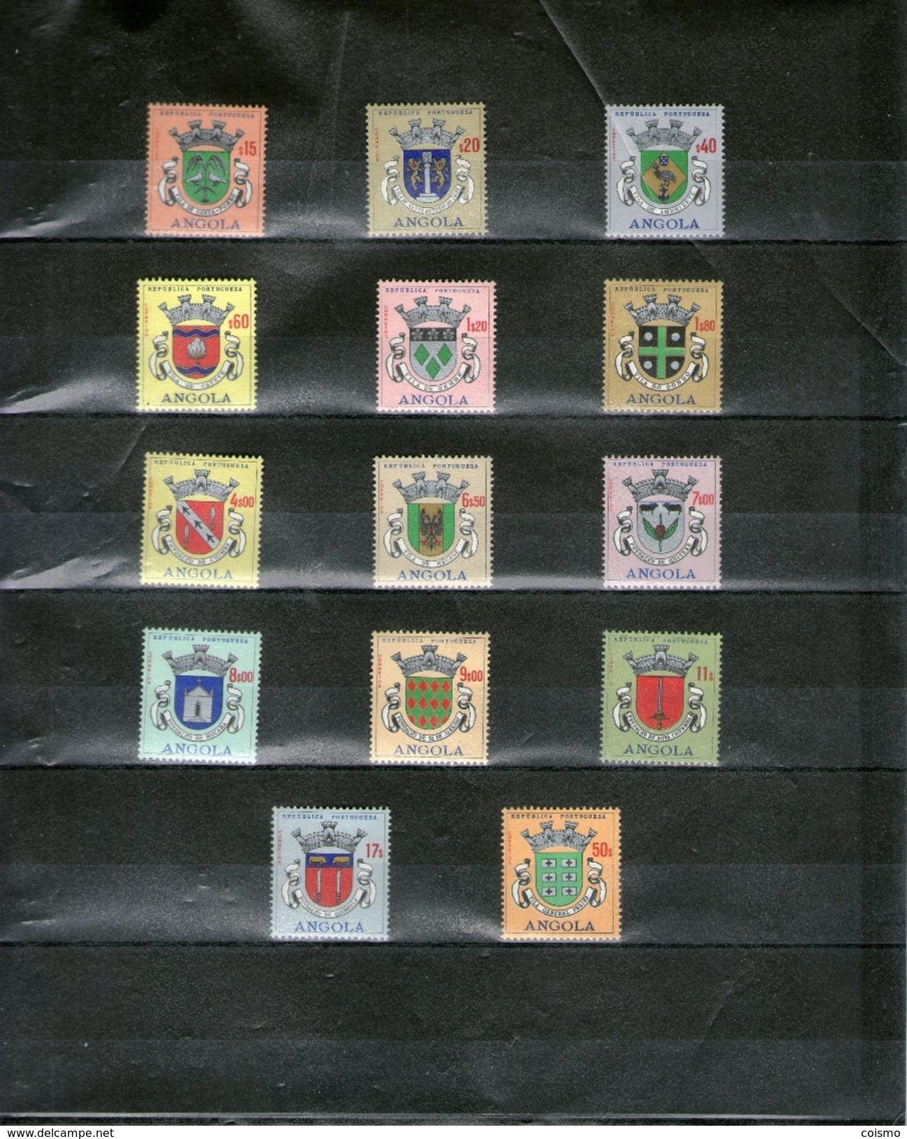 ANGOLA - ARMOIRIES: Lot De 14 Timbres* Différents - Timbres