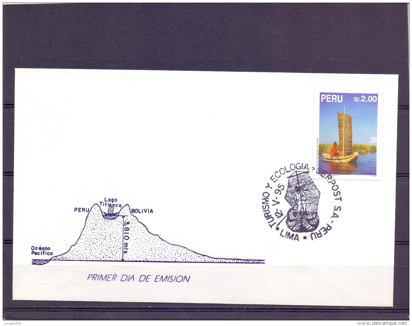 Peru - Uros En Balsa De Totora - Lima 12/5/95    (RM11479) - Bateaux