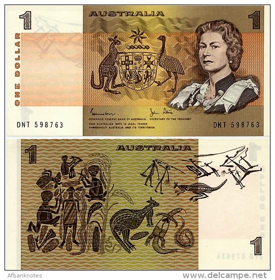 AUSTRALIA       1 Dollar       P-42d       ND (1983)       UNC - 1974-94 Australia Reserve Bank (paper Notes)