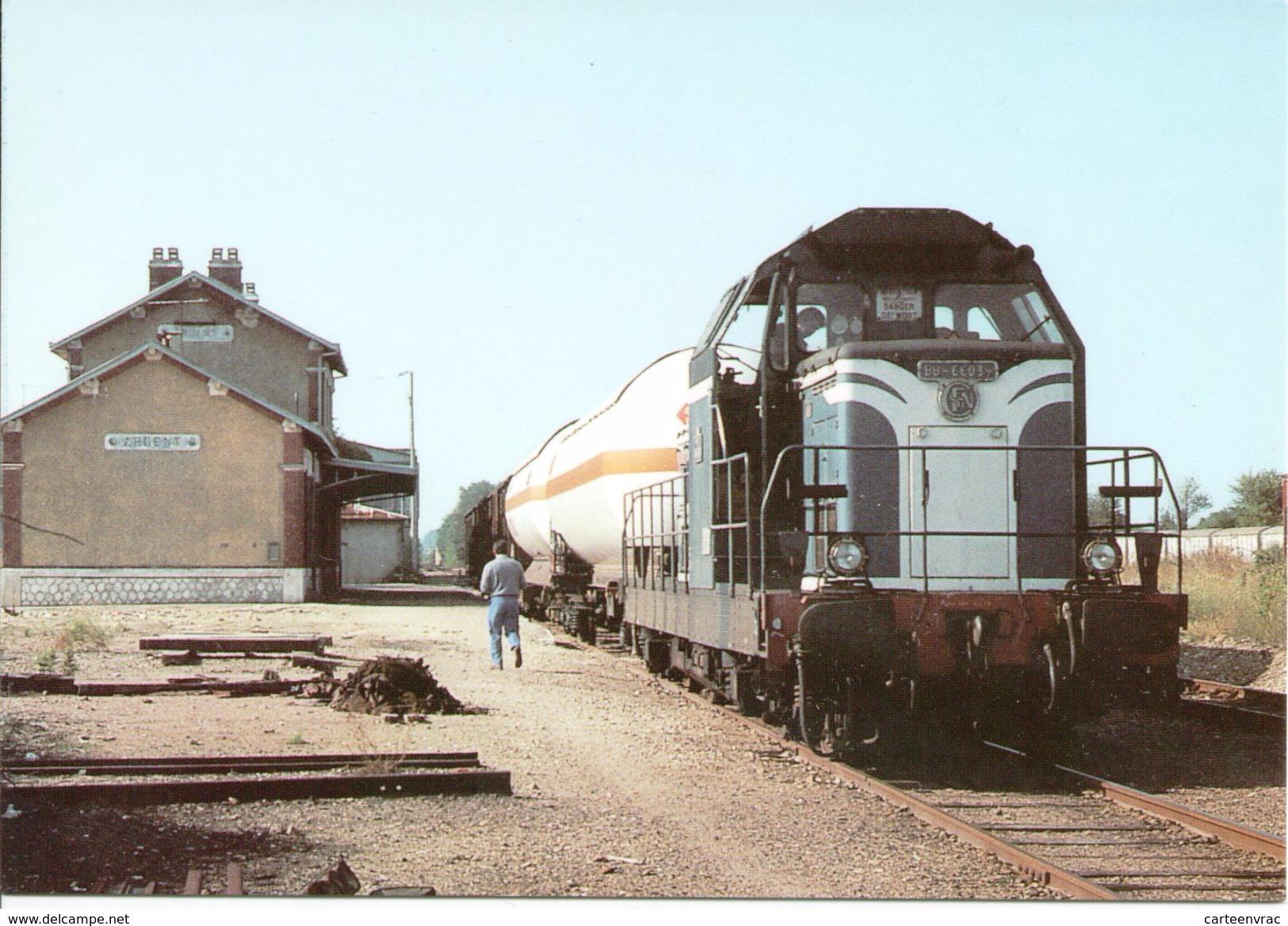 CF 350 Train Locomotive Gare Aubigny Sur Nère - Aubigny Sur Nere