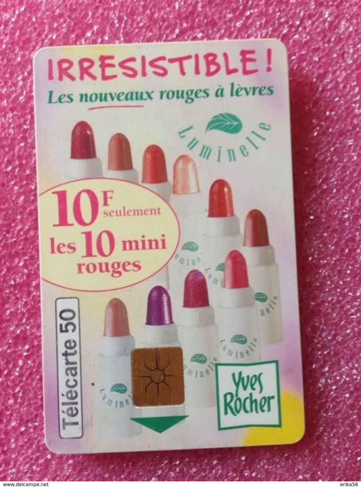 Télécartes IRRERISTIBLE De YVES ROCHER - Parfum