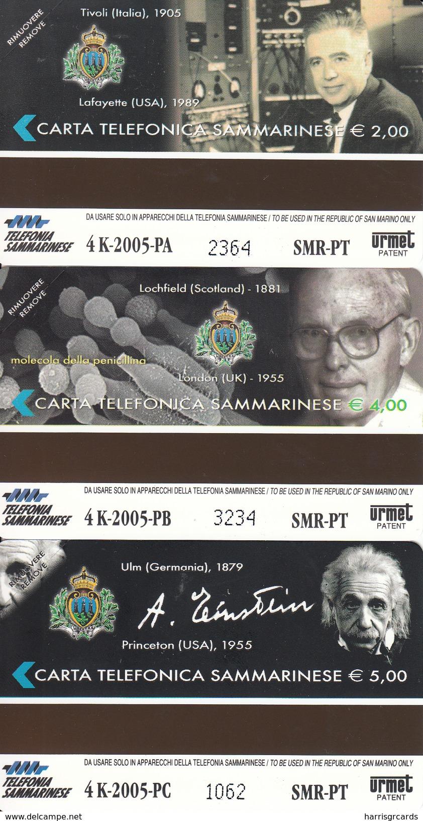 SAN MARINO - Famous Scientists-RSM 115,116,117,tirage 4000, Mint - San Marino
