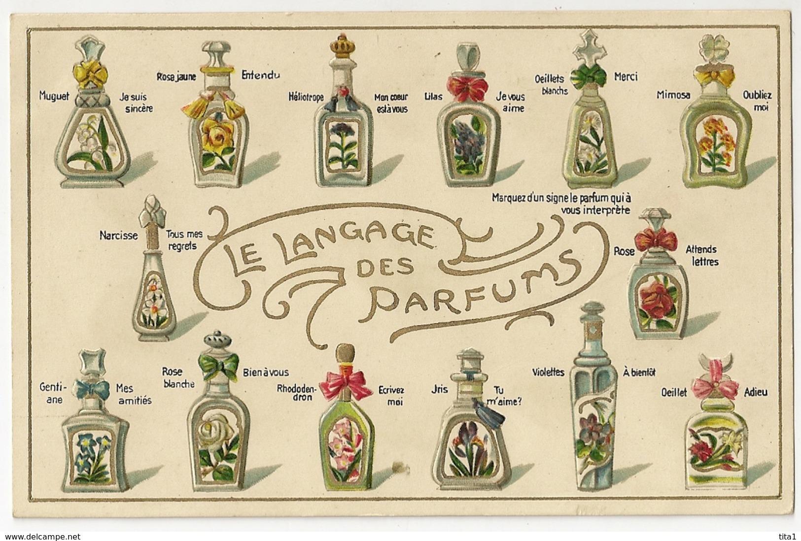 """M2103-  Le Langage Des Parfums """"en Relief"""" - Cartes Postales"""