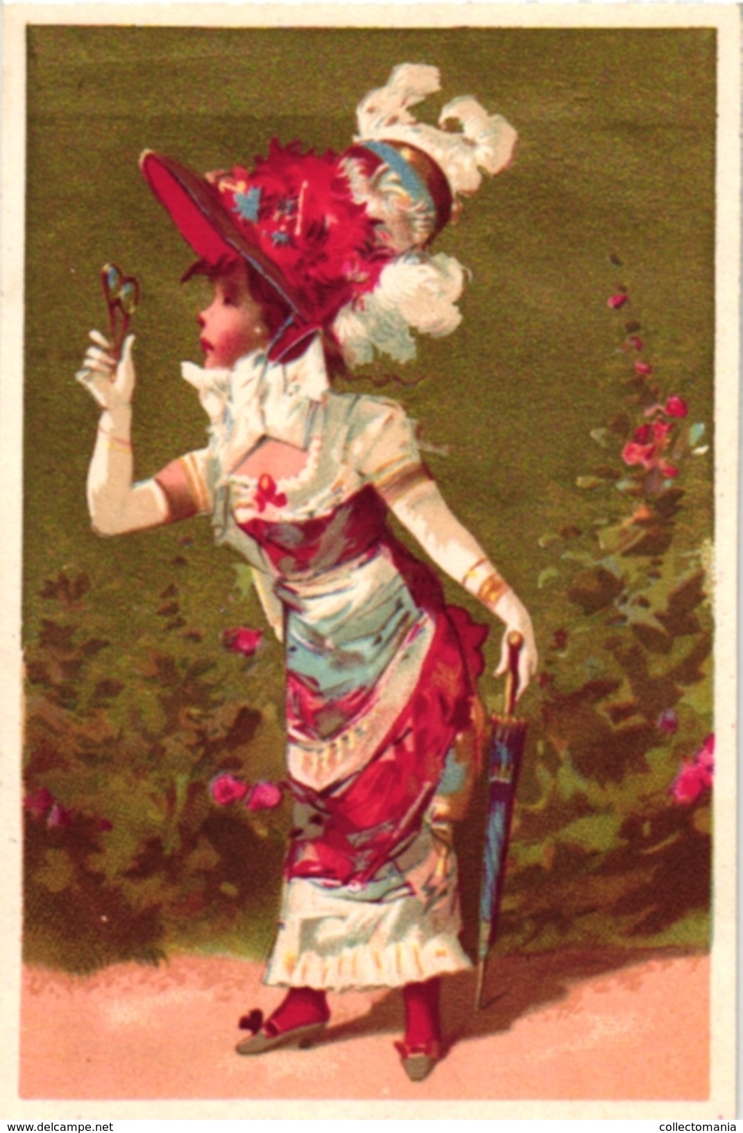 6 Cards C1900 Printer Vallet & Minot Paris Golden Background Fond D'Or Litography - Chromos