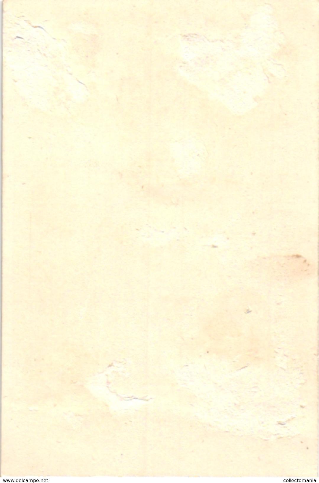 6 Cards C1900 Printer Vallet & Minot Paris Golden Background Fond D'Or Litography - Autres