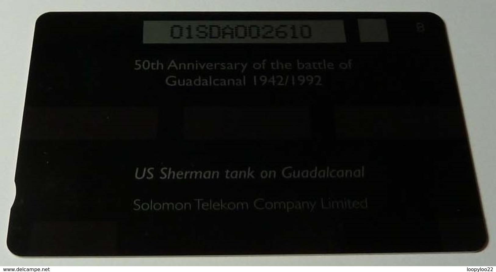 SOLOMON ISLANDS - 1st Issue - Sherman Tank - $20 - O1SDA - MINT - Solomon Islands