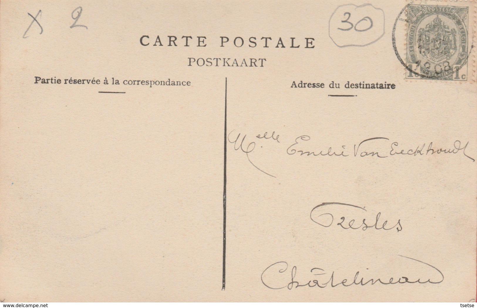 Saint-Mard - La Place Et La Grand'Rue ... Jolie Carte Couleur Et Animée -  1908 ( Voir Verso ) - Virton