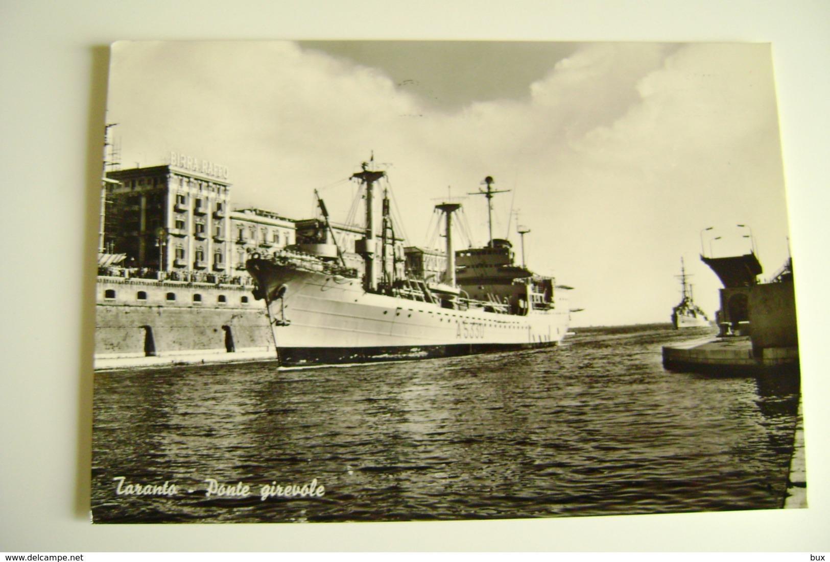 NAVE     TARANTO  A5330  VESUVIO   MARINA  MILITARE  WARSHIP    VIAGGIATA COME DA FOTO - Warships
