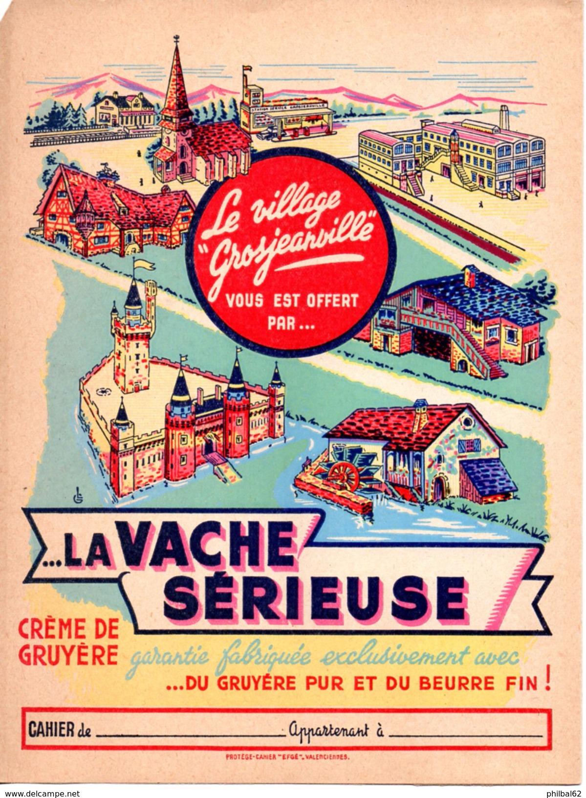 Protège Cahier Crème De Gruyère La Vache Sérieuse. - Protège-cahiers