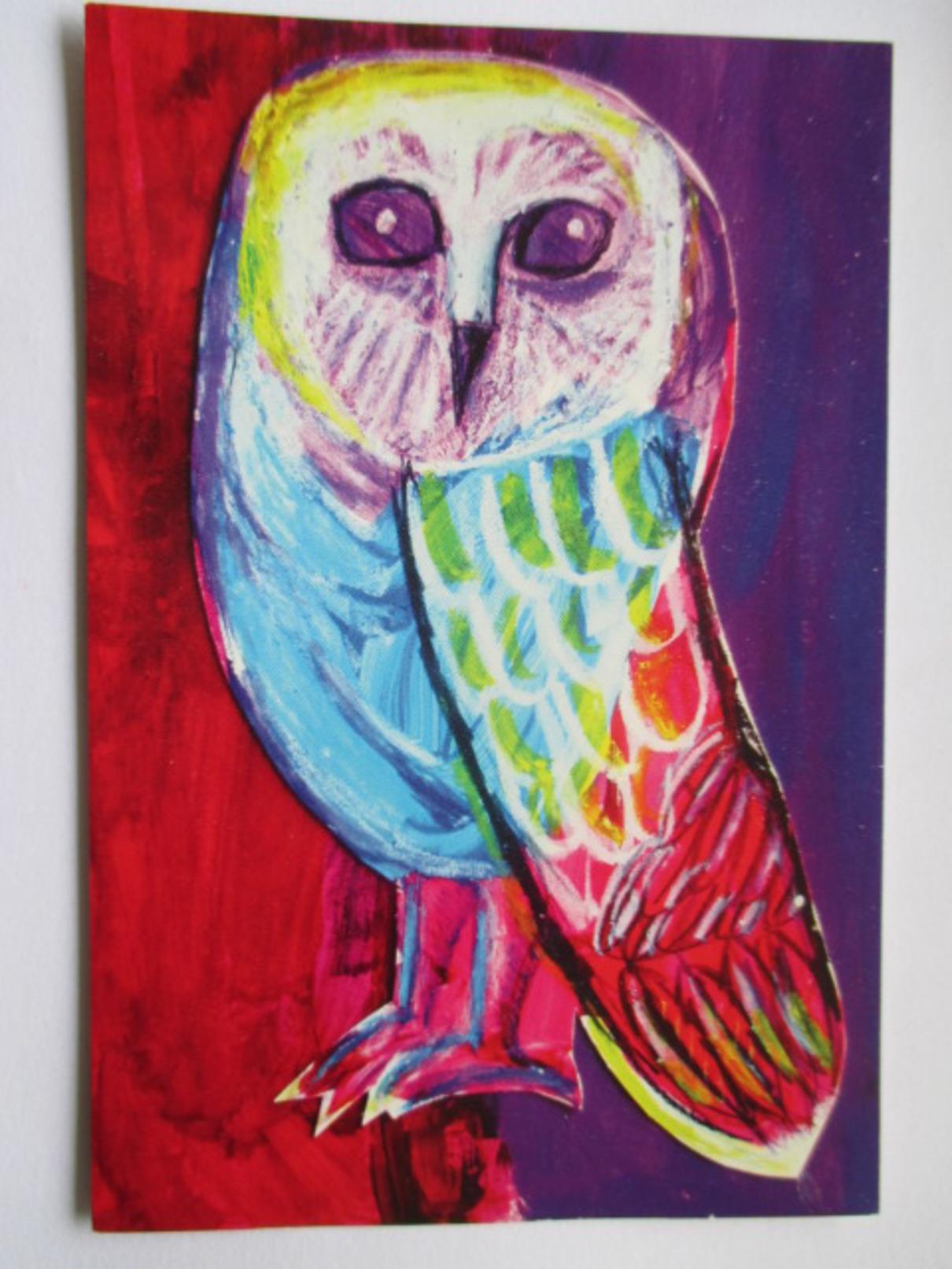 Jo Jo - The Owl By Lila (age 8)  -  Sidney  - Chouette Australienne - Oiseaux