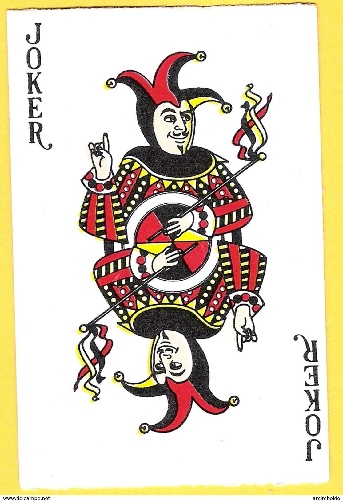 Joker Avec Sceptre Et Index Vers Le Haut - Lettres Noires - Kartenspiele (traditionell)