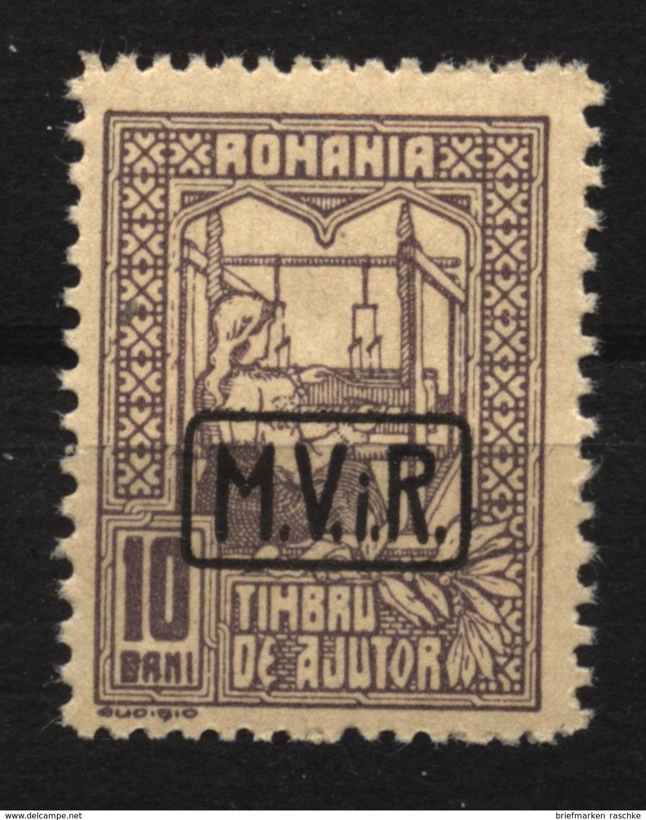 Militärverwaltung In Rumänien,Zwangszuschlagsmarken,Nr.4,xx - Besetzungen 1914-18