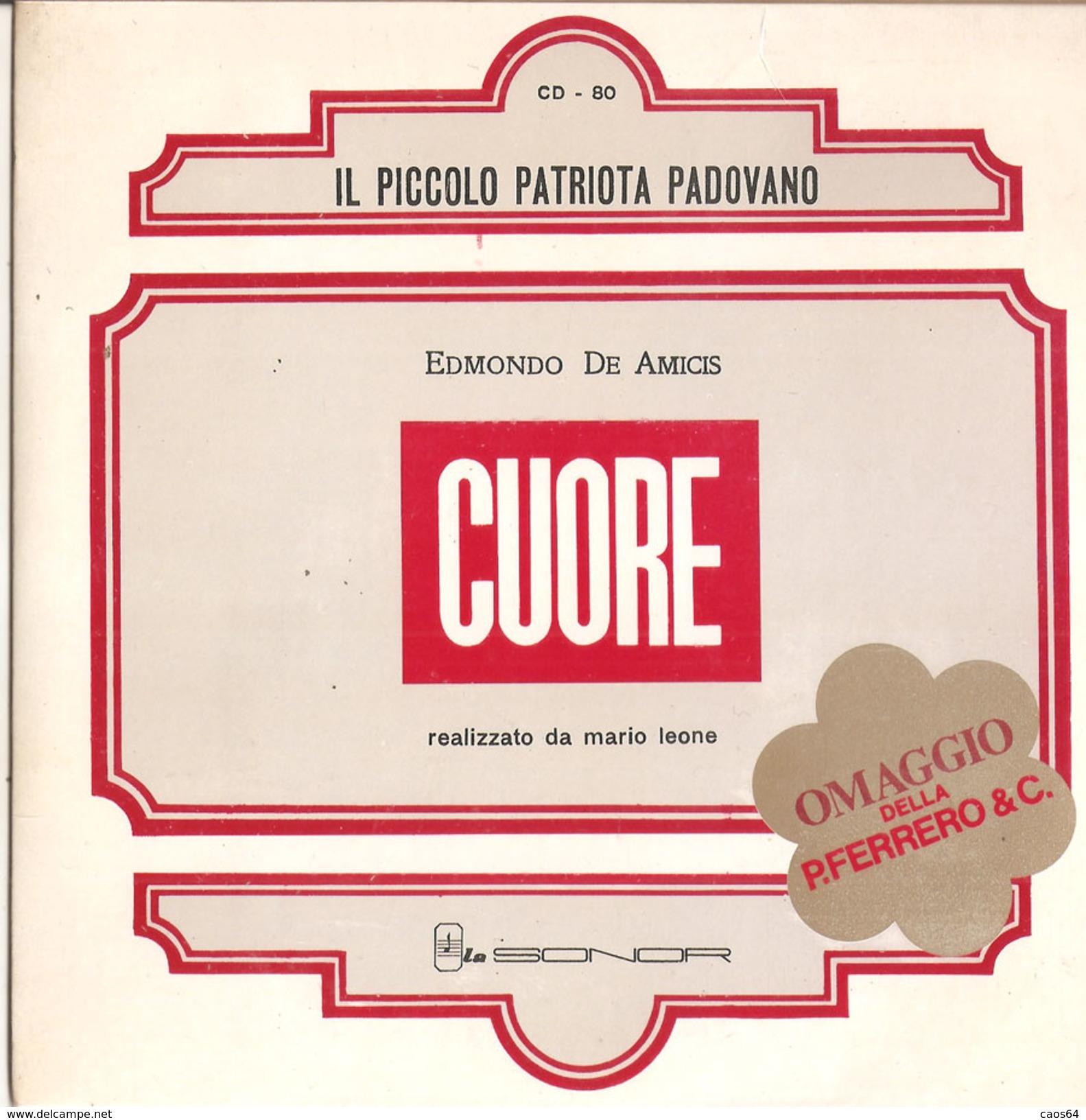 """Edmondo De Amicis Mario Leone - Il Piccolo Patriota Padovano / La Piccola Vedetta Lombarda (7"""") La Sonor - Sonstige"""